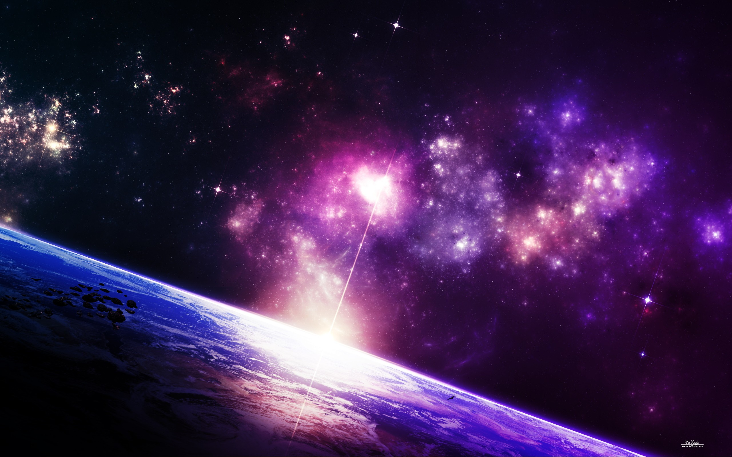 General 2560x1600 space space art planet digital art