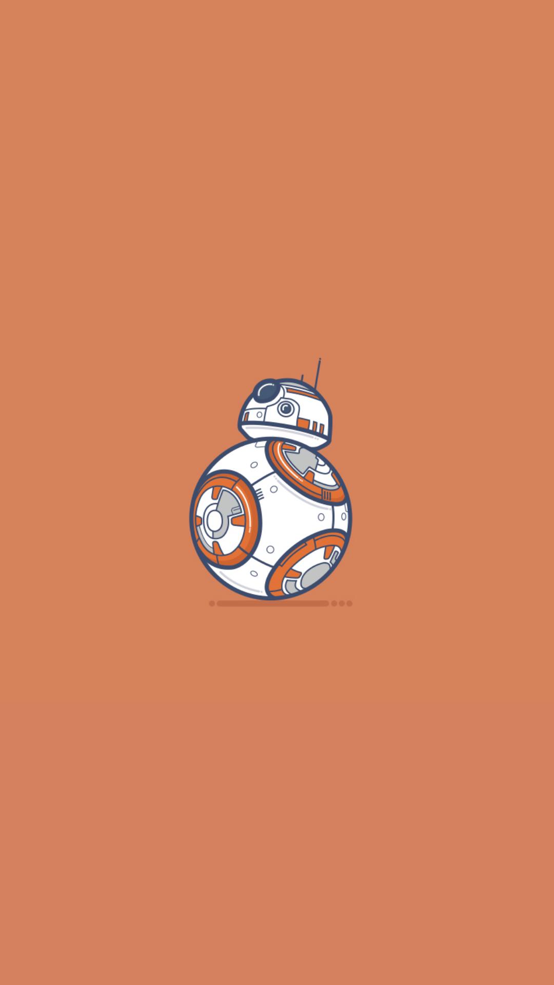 General 1080x1920 Star Wars BB-8 robot Star Wars Droids simple background minimalism science fiction
