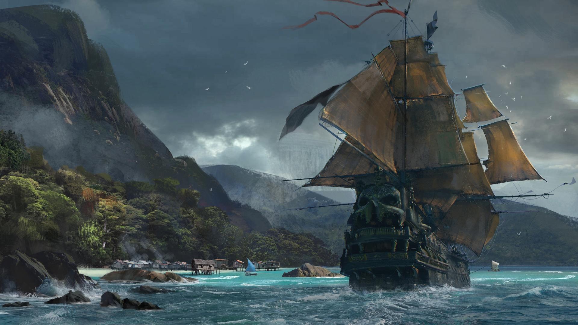 General 1920x1080 video games ship sea island Skull & Bones