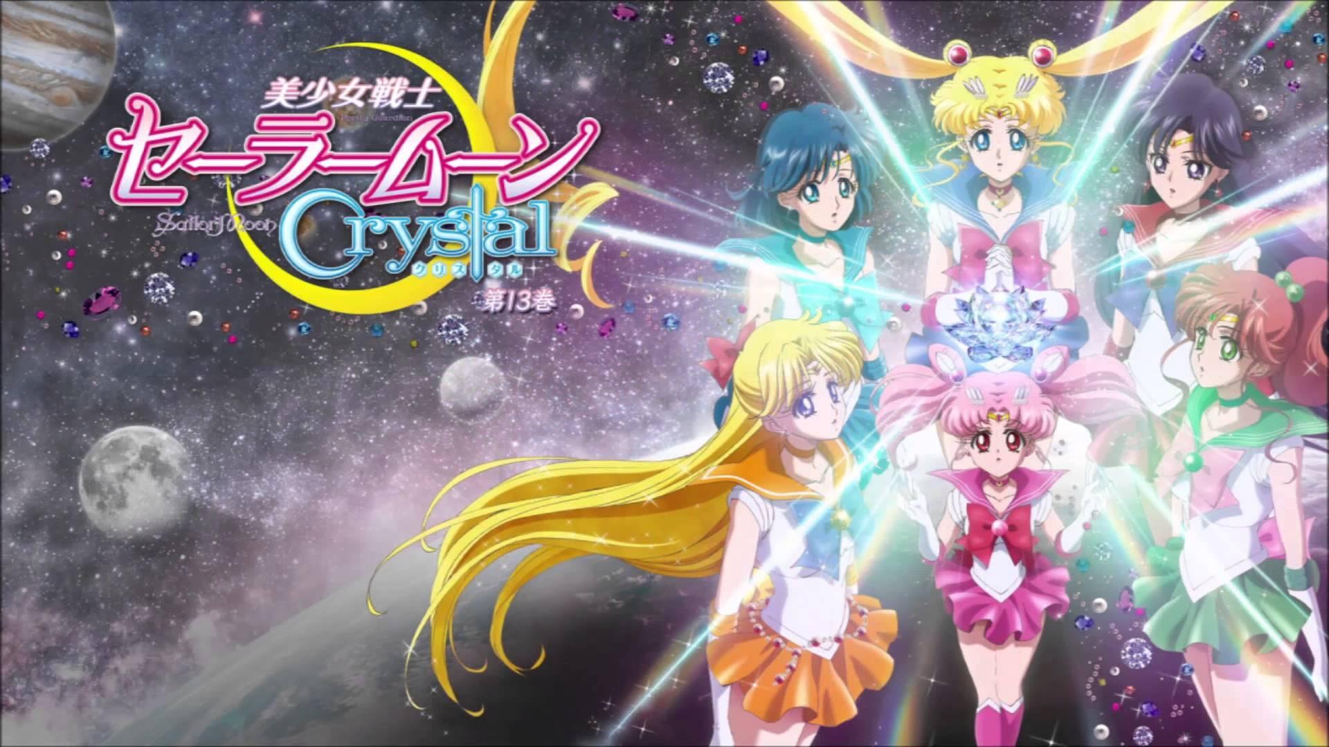 Anime 1920x1080 Sailor Moon anime girls Chibi-Usagi Mizuno Ami Kino Makoto Aino Minako Tsukino Usagi
