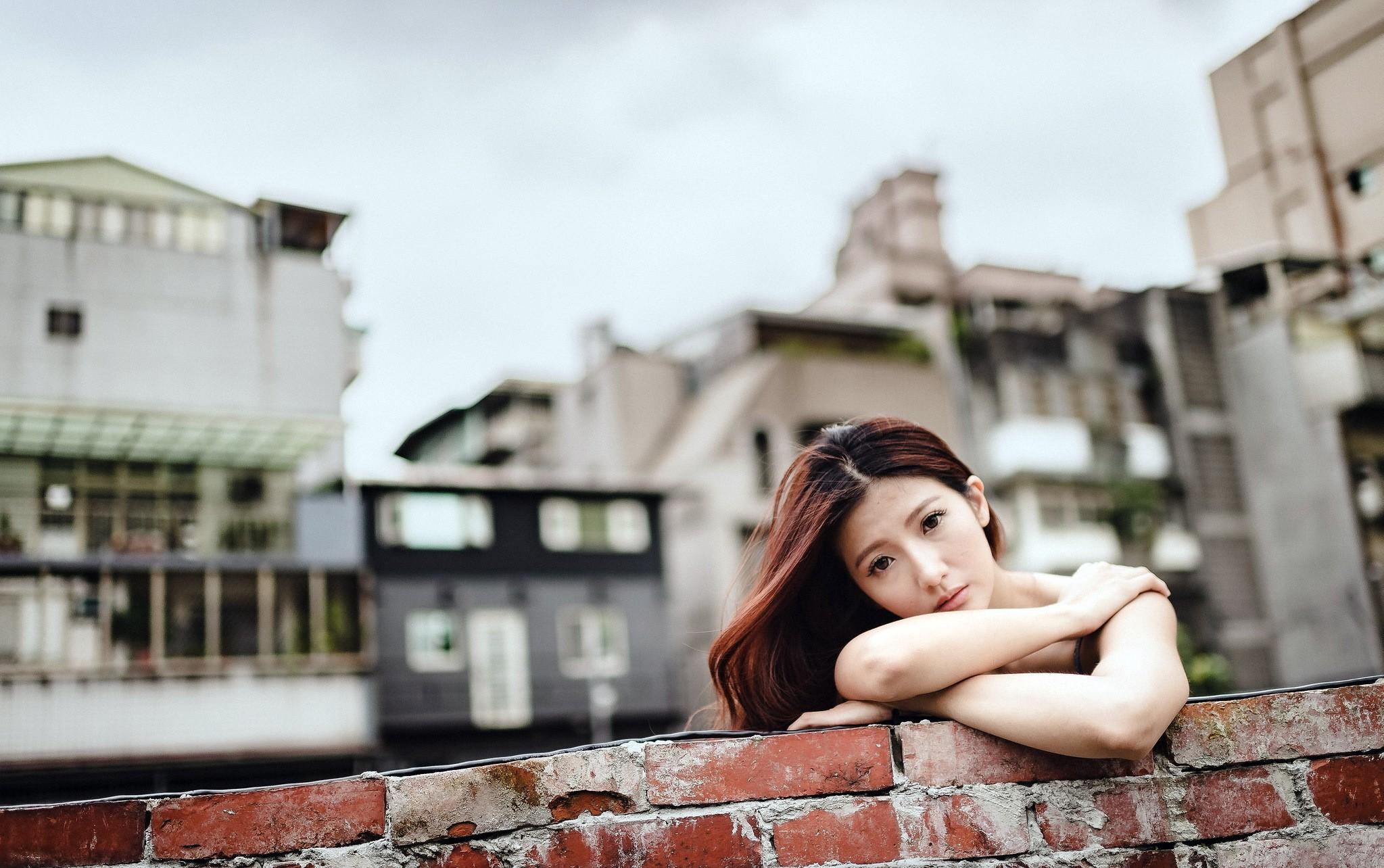People 2047x1284 wall urban Asian women model