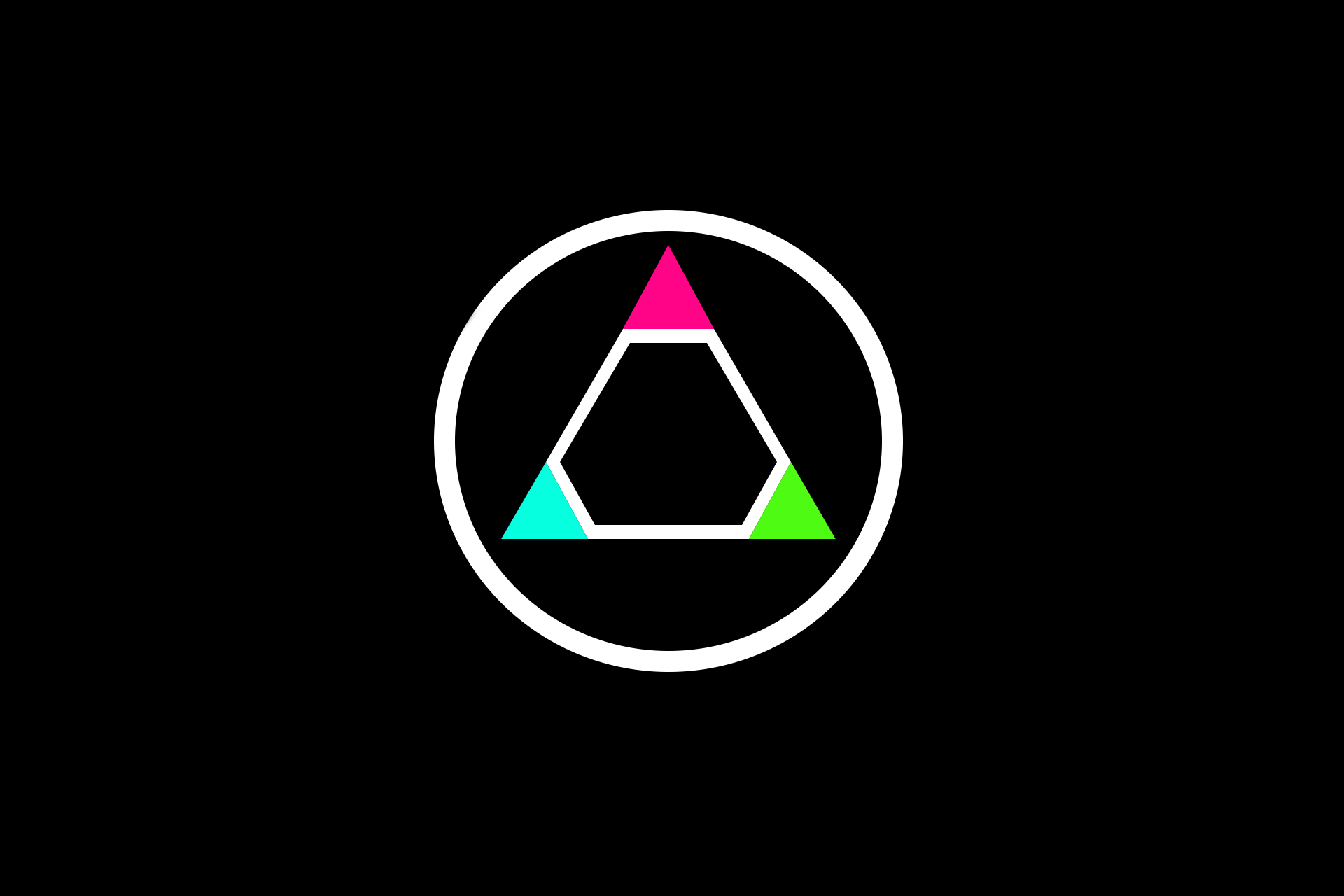 General 1920x1280 video games triangle circle minimalism
