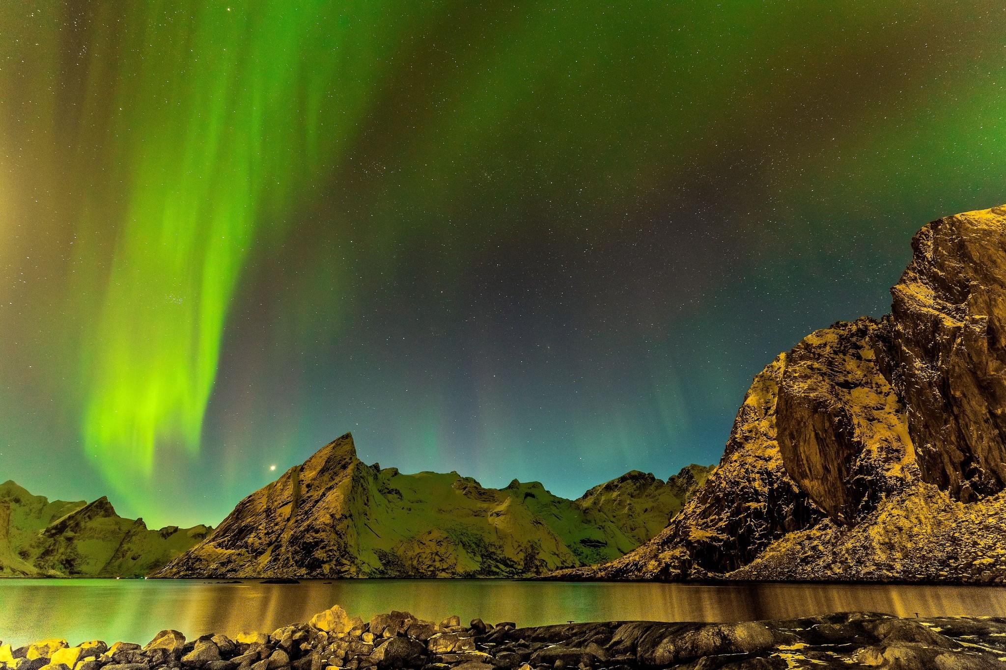 General 2048x1365 landscape aurorae nordic landscapes sky skyscape mountains