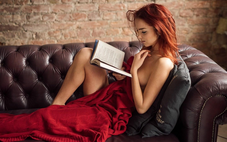 People 1440x900 redhead books women reading legs model Ekaterina Sherzhukova