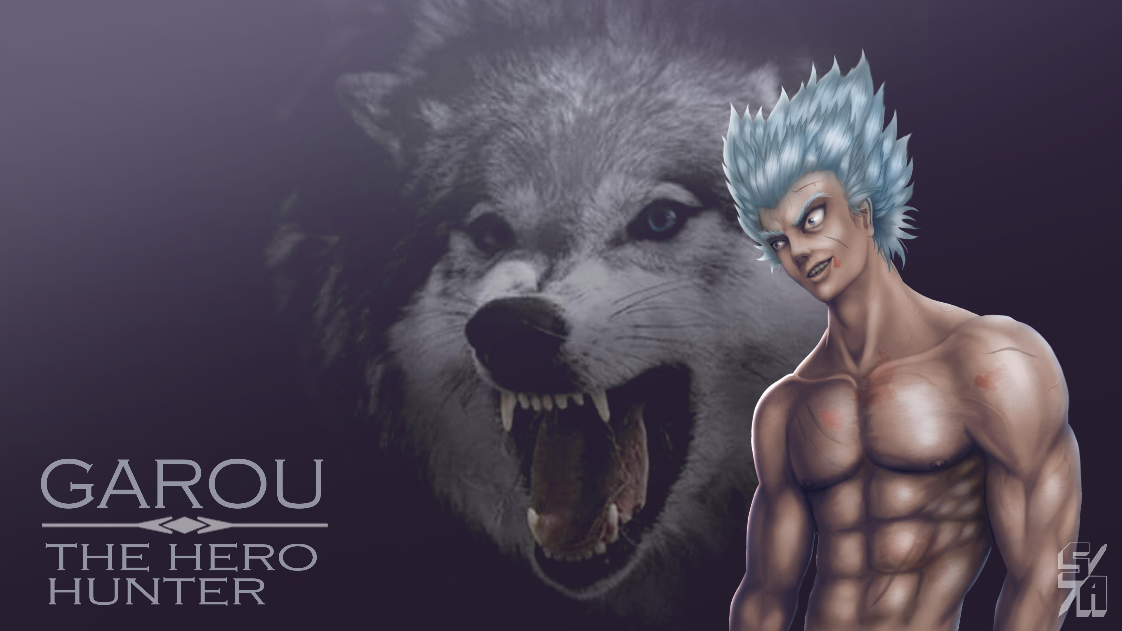Anime 3840x2160 wolf wolf Garou One-Punch Man anime Shounen Saitama Genos super villain villains hero