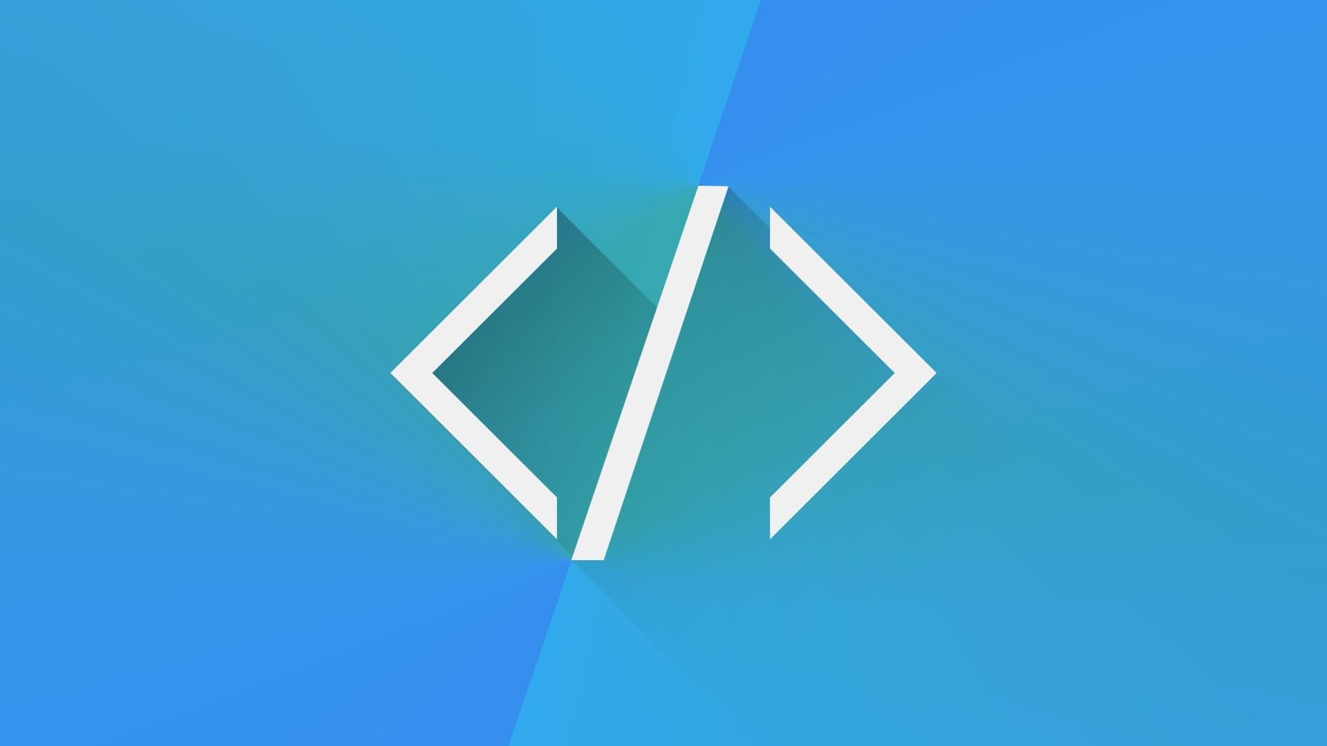 General 1920x1080 HTML programming code blue simplicity