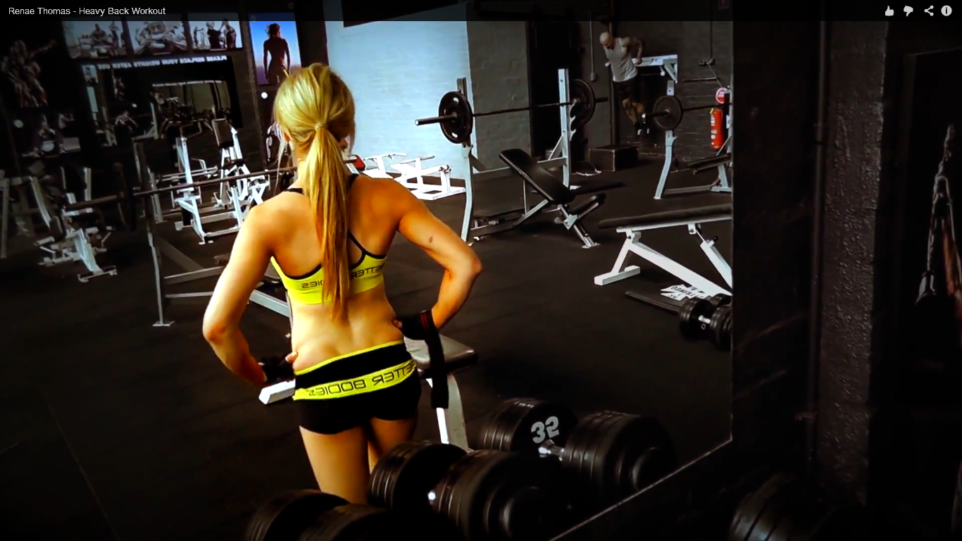 People 1366x768 sport  women blonde gyms hands on hips long hair sports bra pants women indoors indoors Renae Thomas