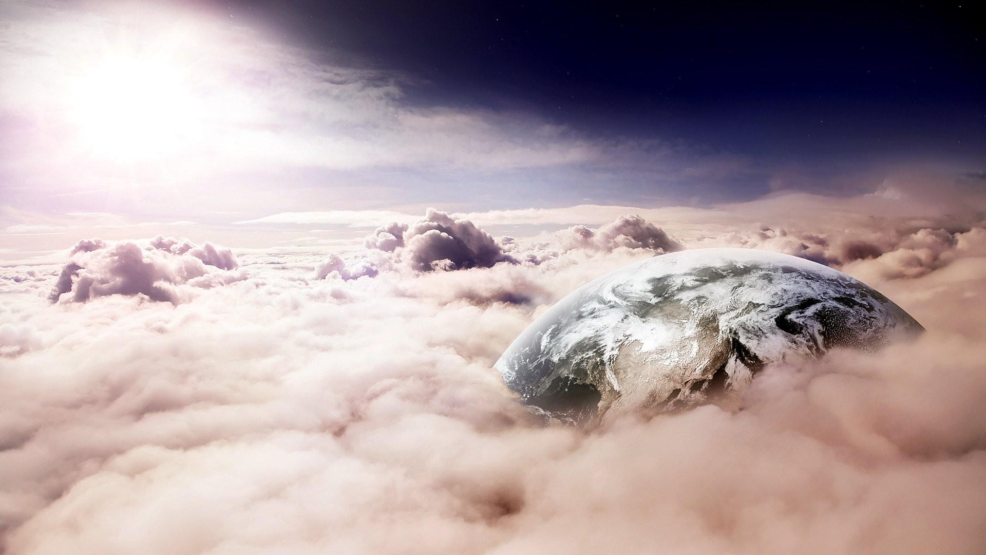 General 1920x1080 fantasy art clouds Earth