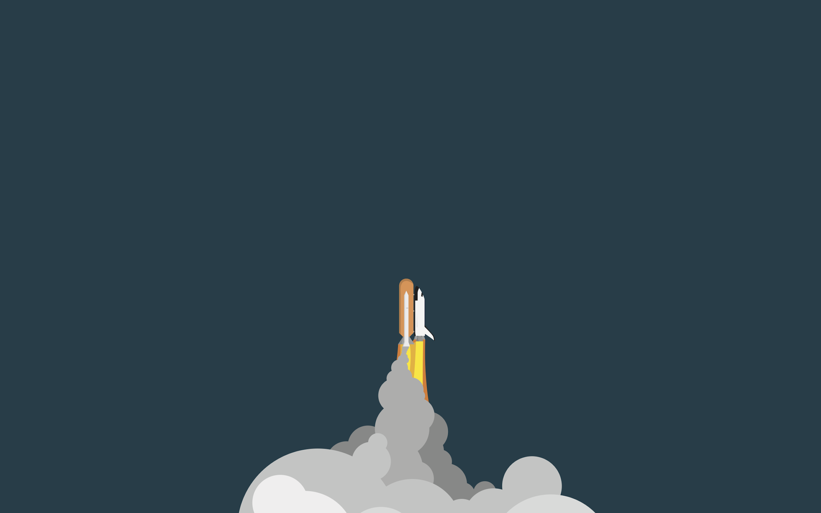 General 2880x1800 space shuttle artwork space art vehicle simple background smoke space