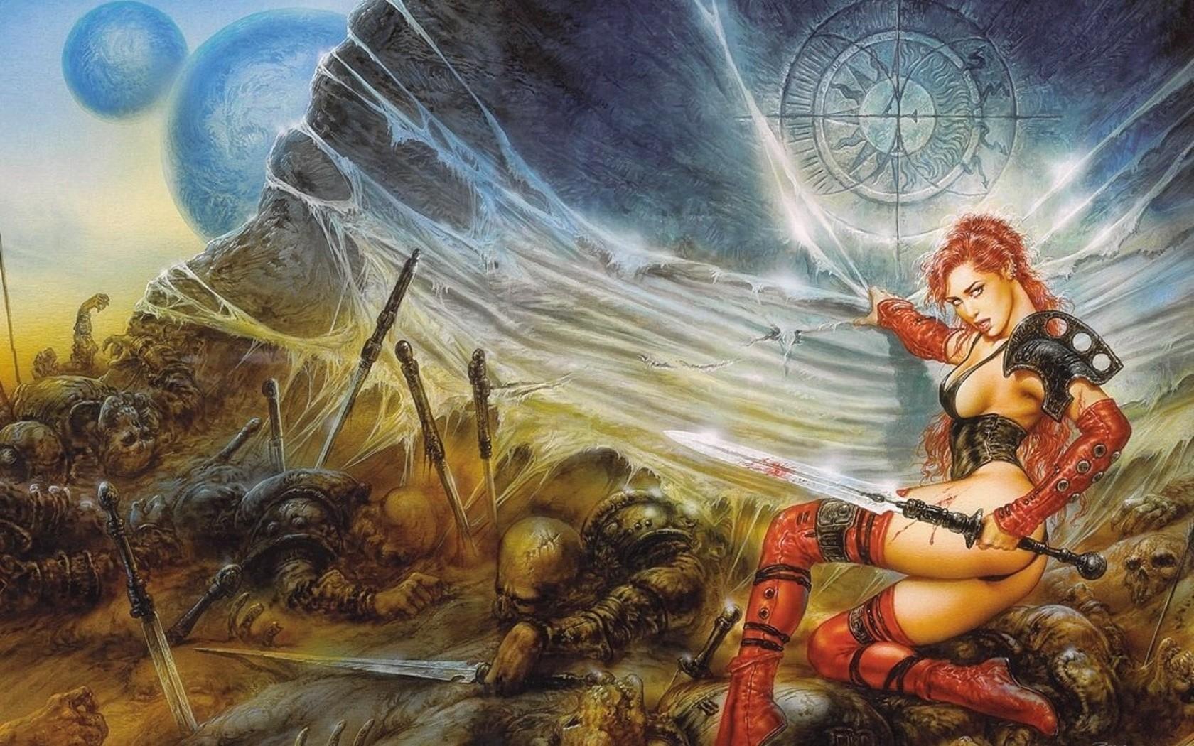 General 1680x1050 Luis Royo fantasy girl ass artwork