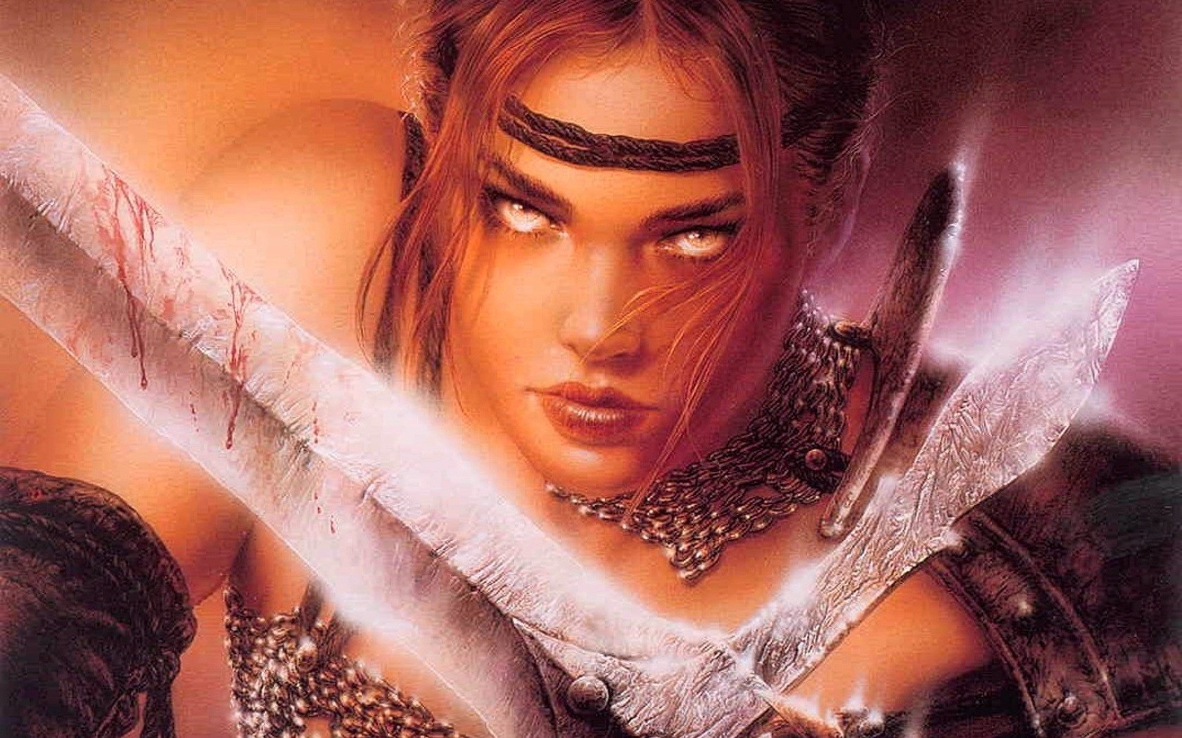 General 1680x1050 Luis Royo women sword fantasy girl