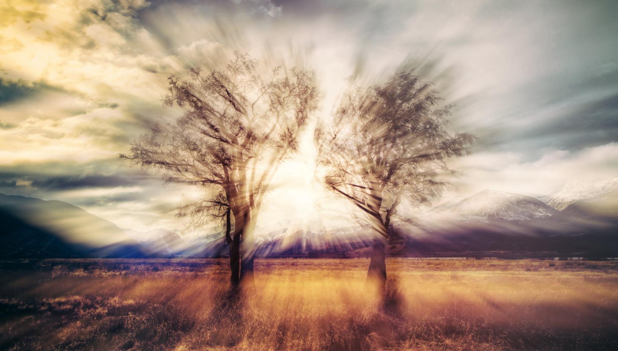General 2048x1164 Trey Ratcliff HDR landscape digital art nature mountains trees