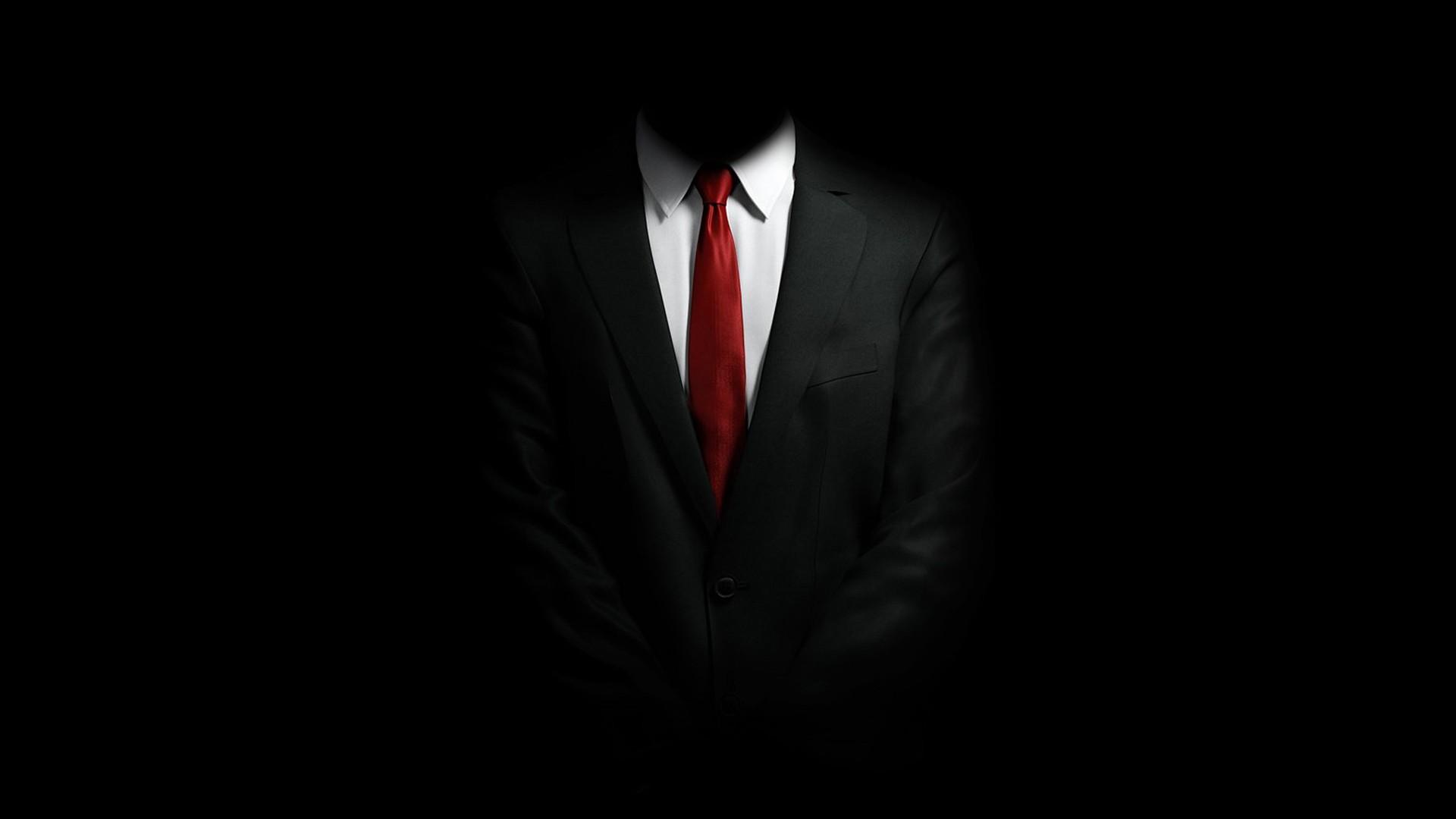 General 1920x1080 suits black background Hitman video games red tie Hitman: Absolution dark minimalism 47