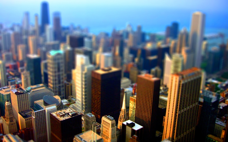 General 1440x900 tilt shift cityscape city urban Chicago