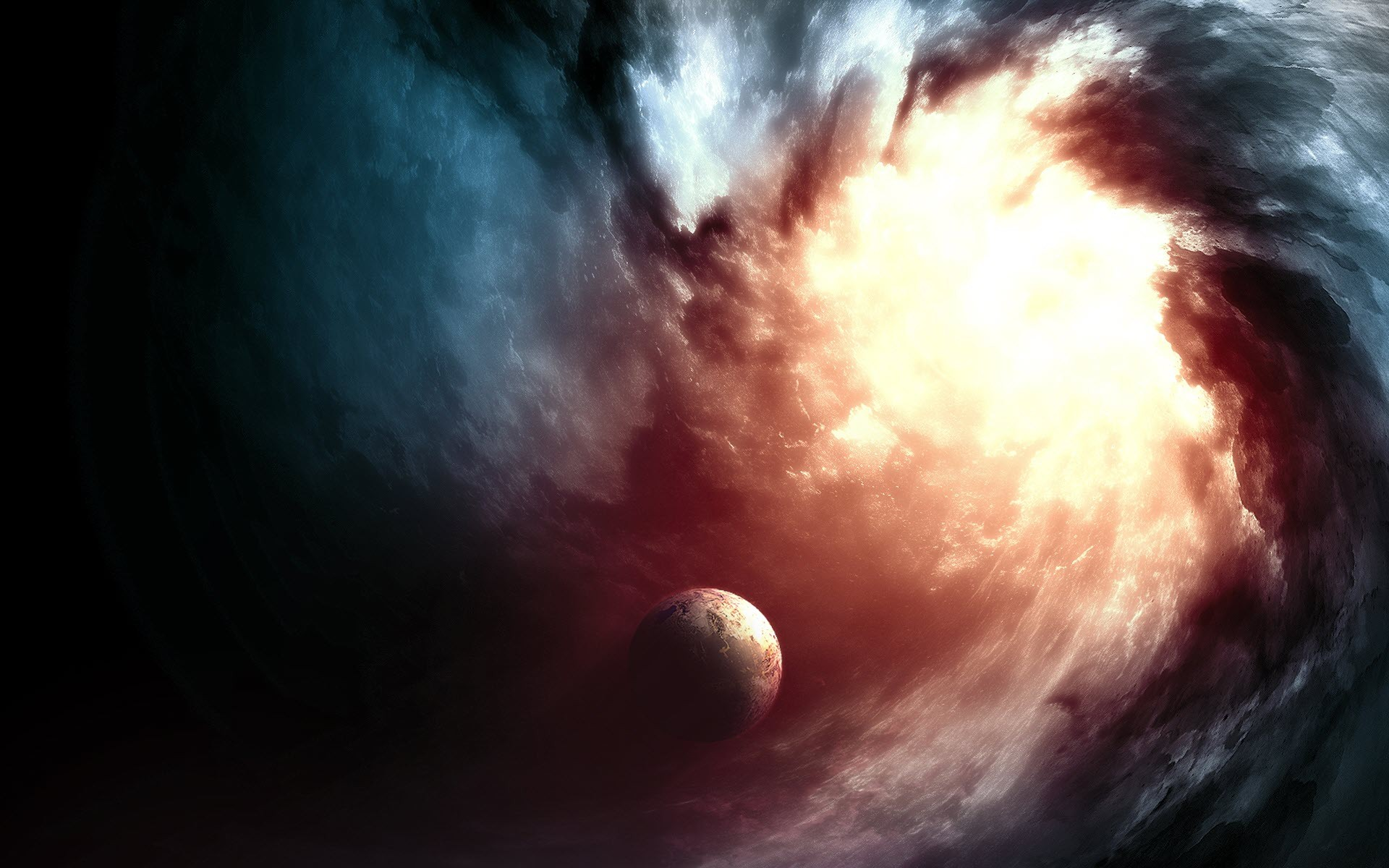General 1920x1200 abstract Earth space space art digital art planet