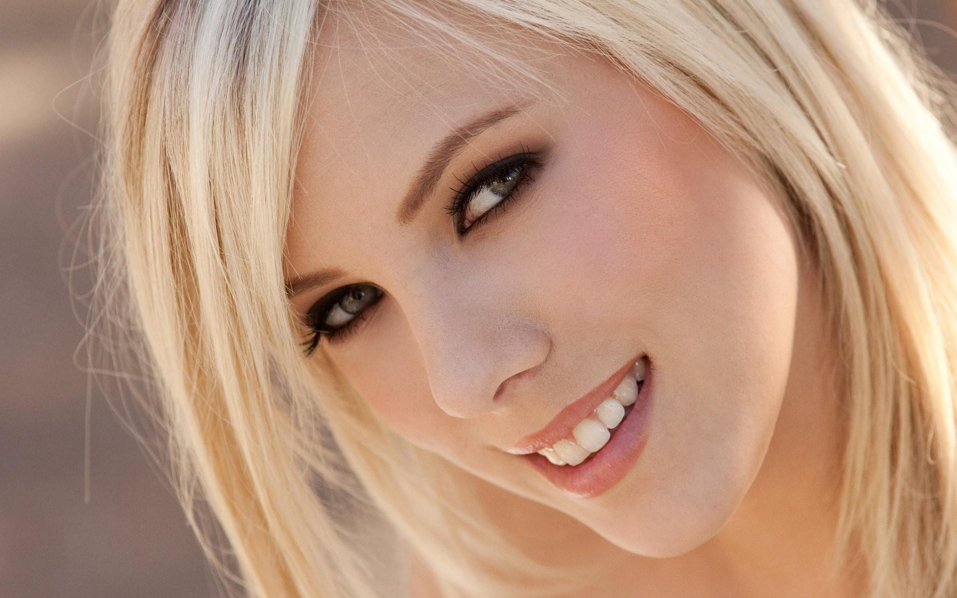People 1920x1200 face model Bibi Jones women blonde smiling Digital Desire