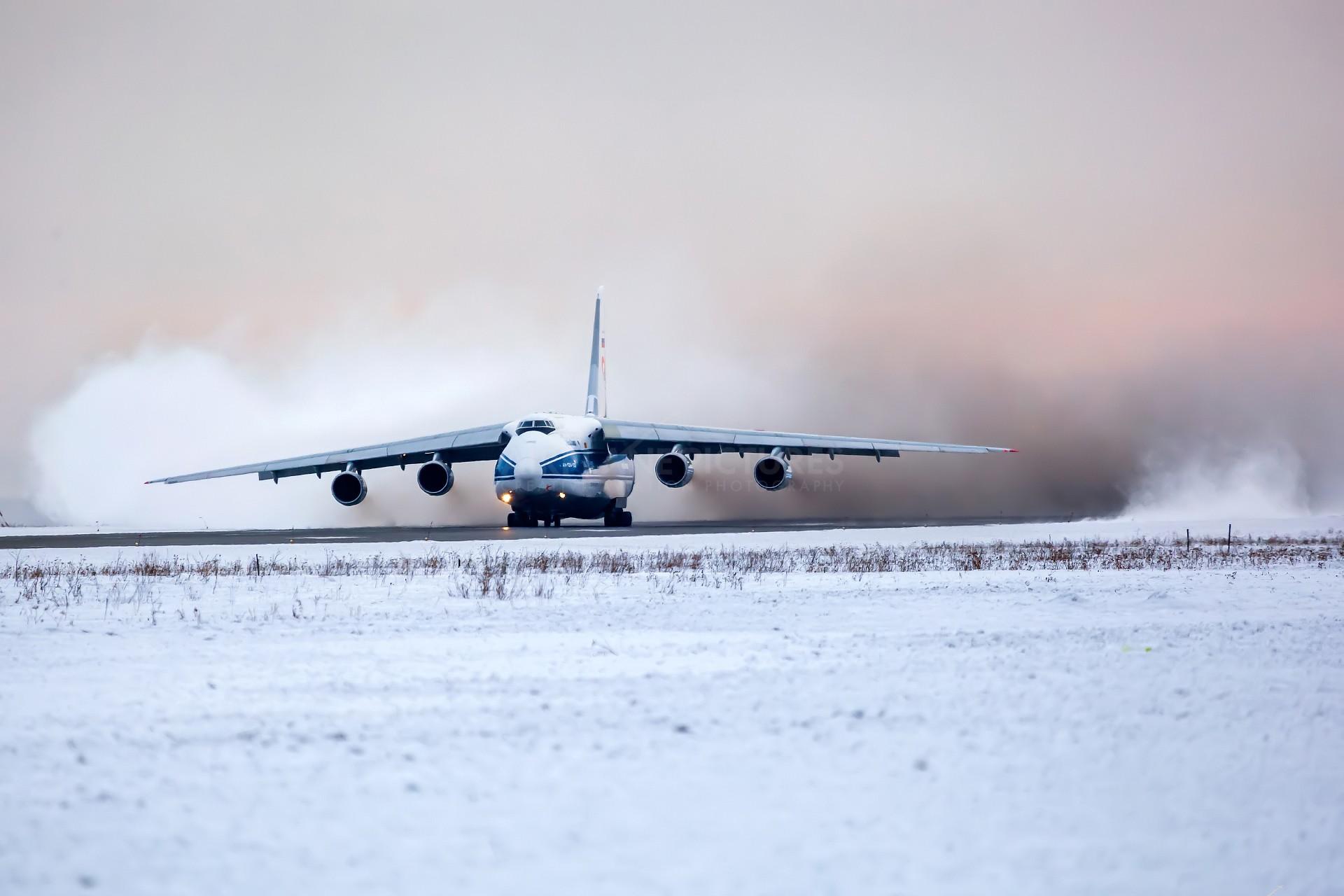 General 1920x1280 aircraft snow airplane runway an-124