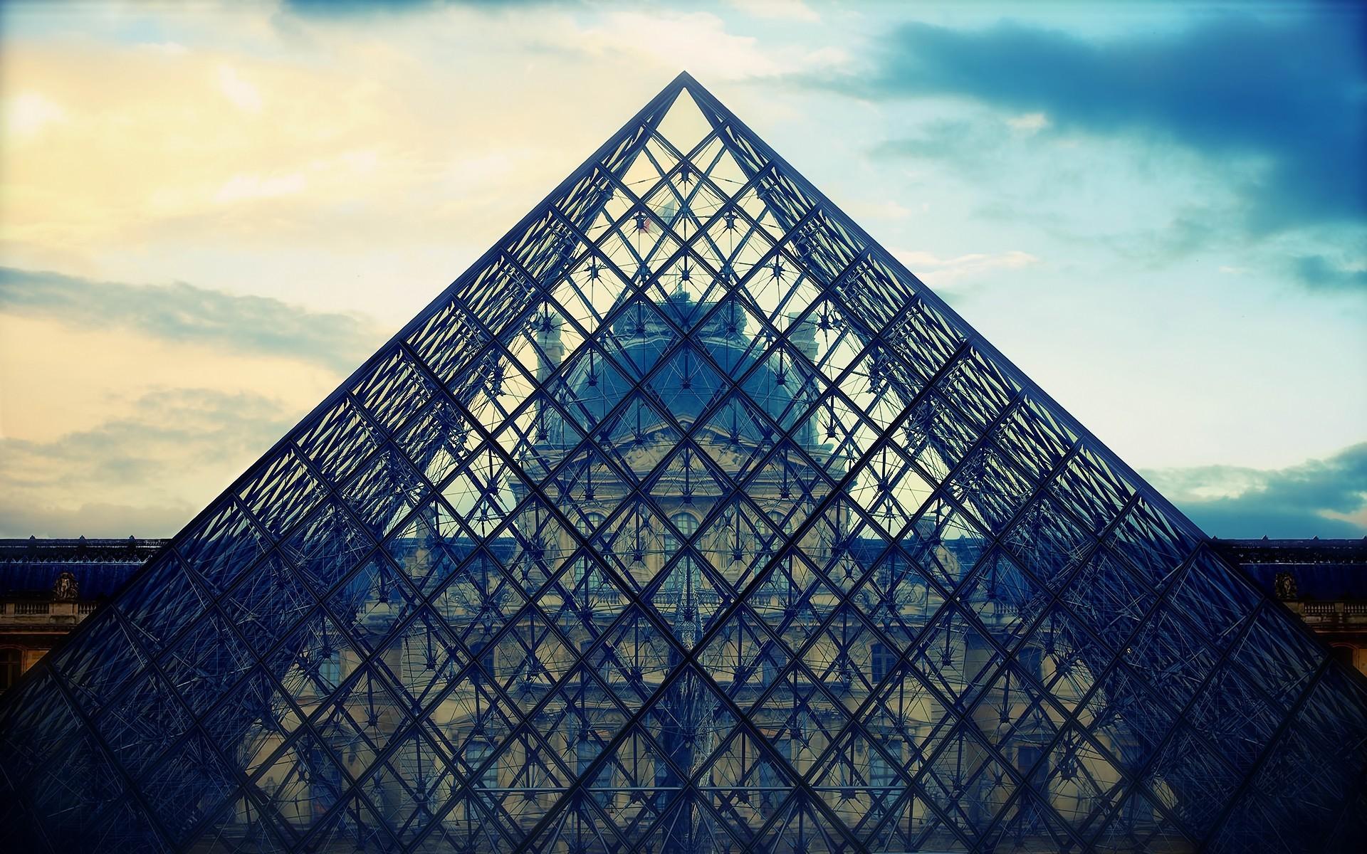 General 1920x1200 Louvre museum pyramid Paris architecture