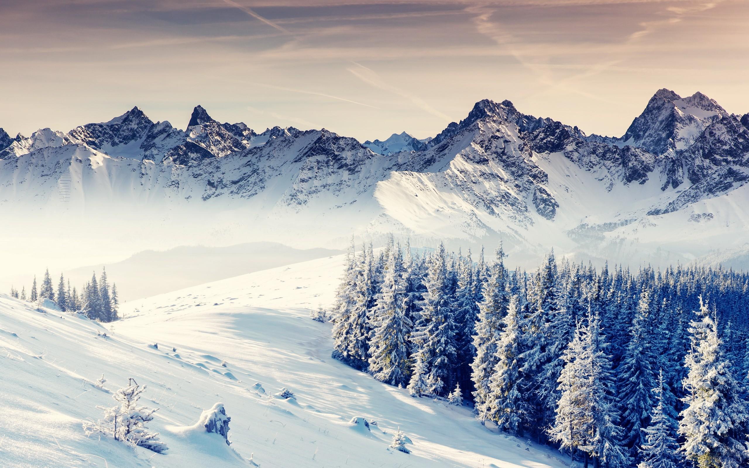 General 2560x1600 nature winter mountains landscape snow