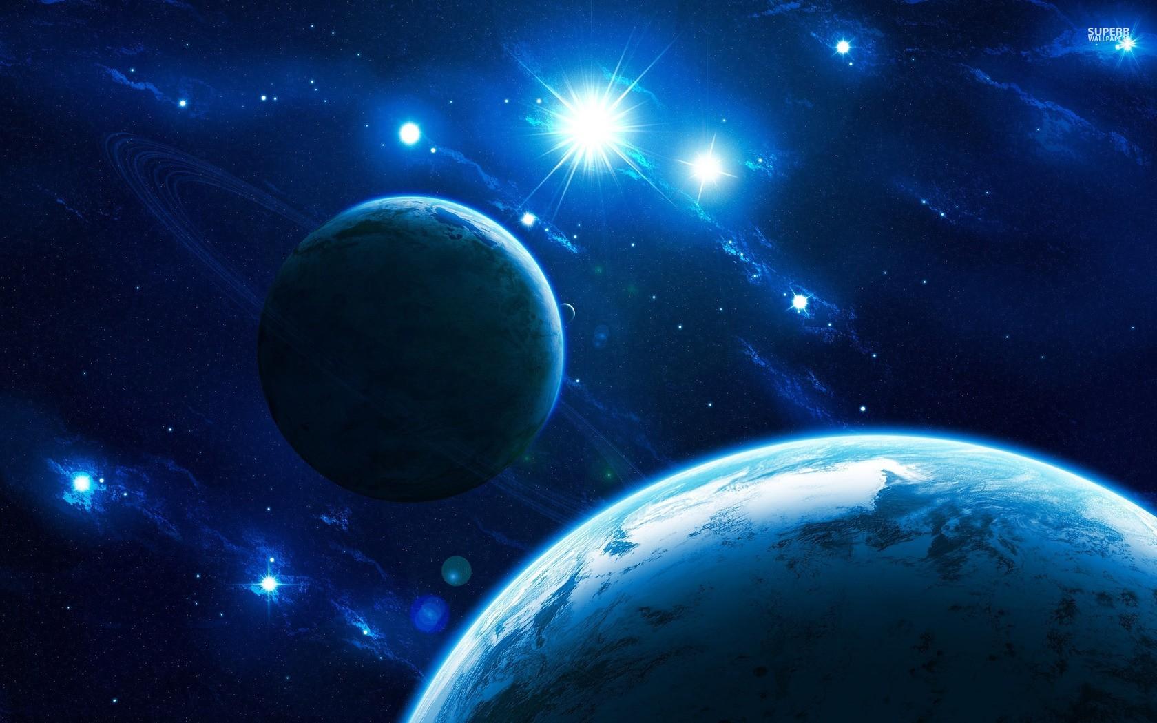 General 1680x1050 space space art planetary rings planet digital art