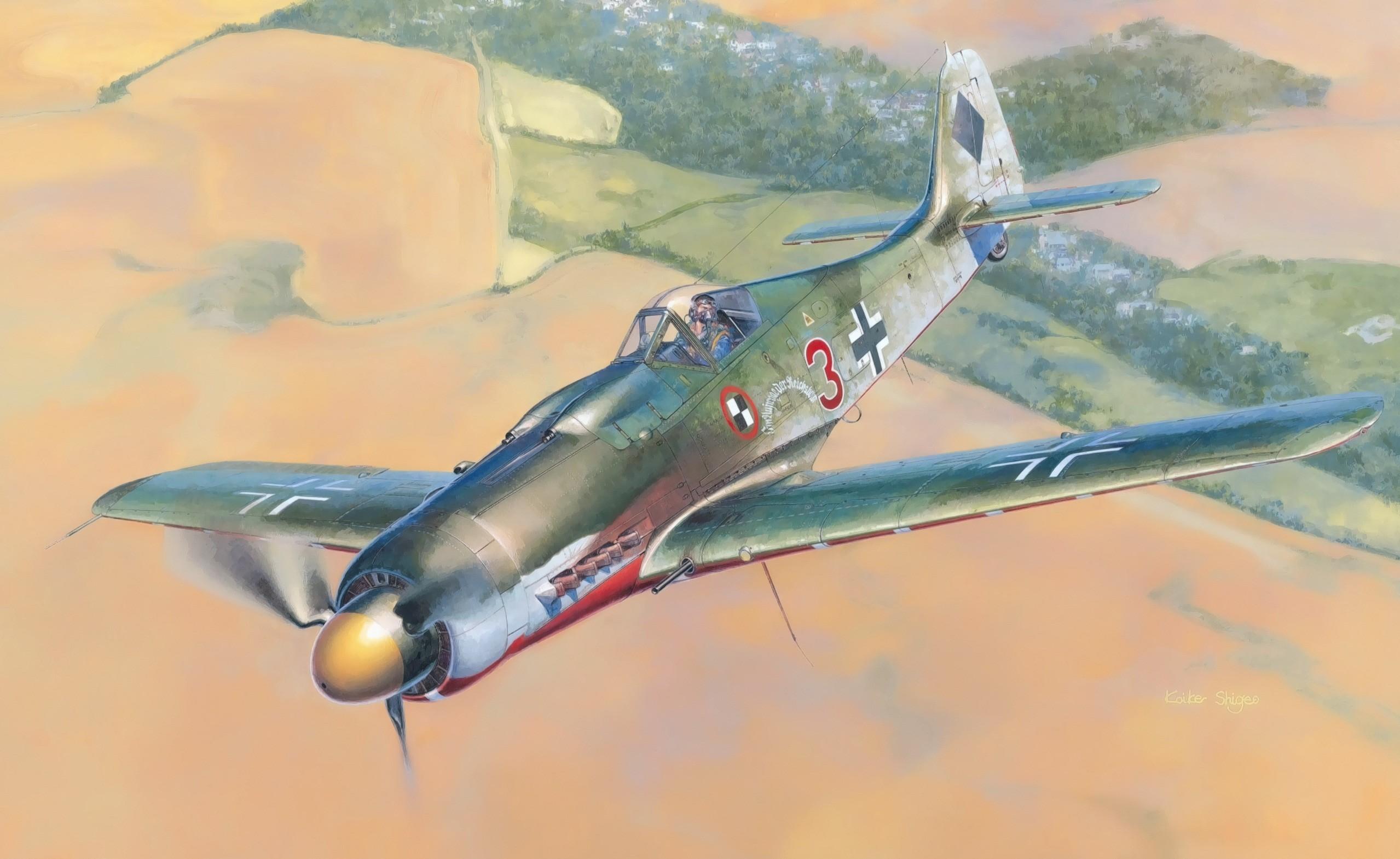 General 2558x1570 World War II fw 190 Focke-Wulf Luftwaffe Germany airplane military aircraft military aircraft