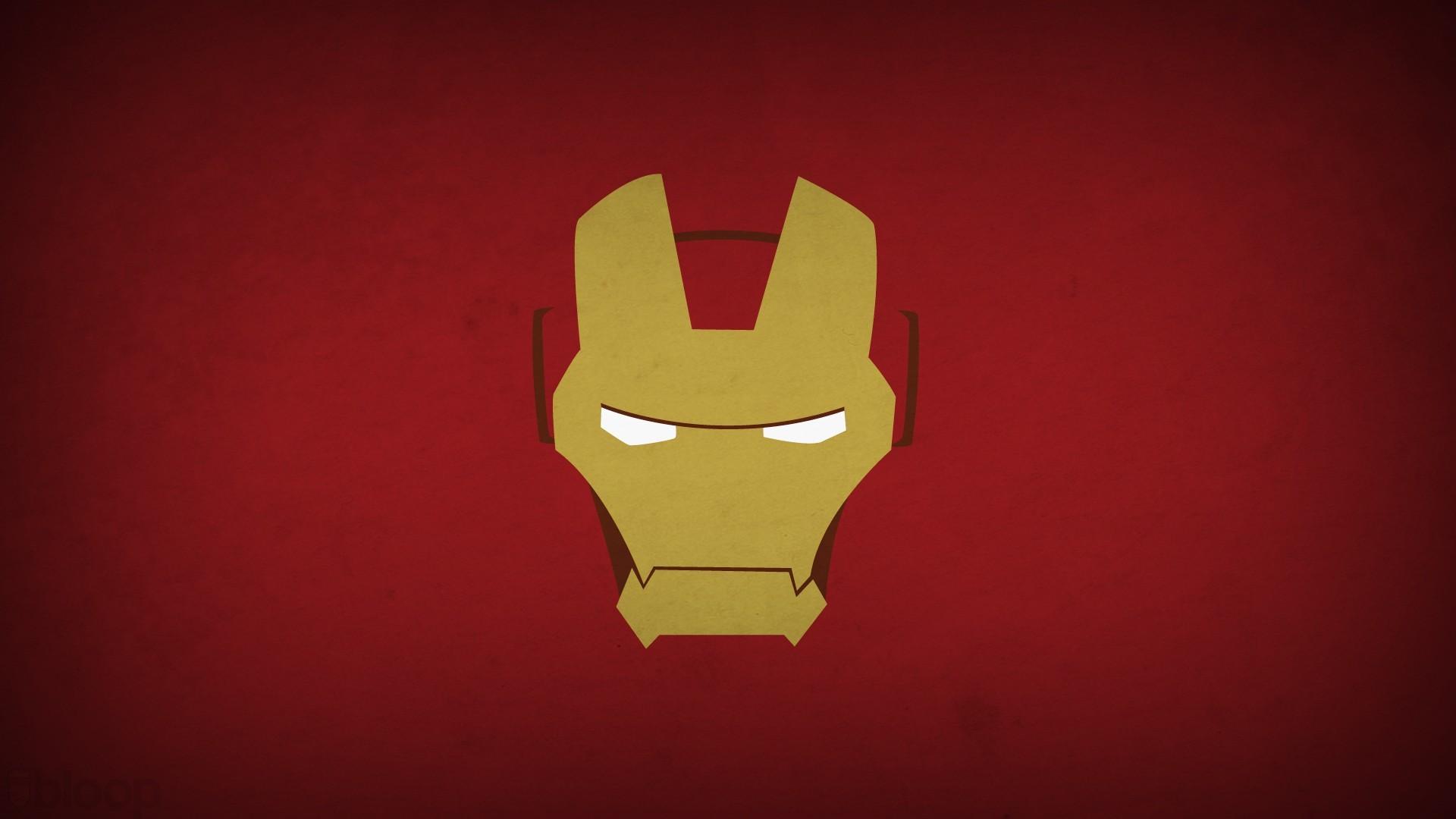 General 1920x1080 minimalism superhero Iron Man Marvel Comics hero Blo0p red background