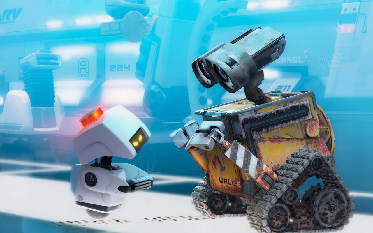 General 1280x800 WALL-E Disney Pixar Animation Studios cyan robot dirt