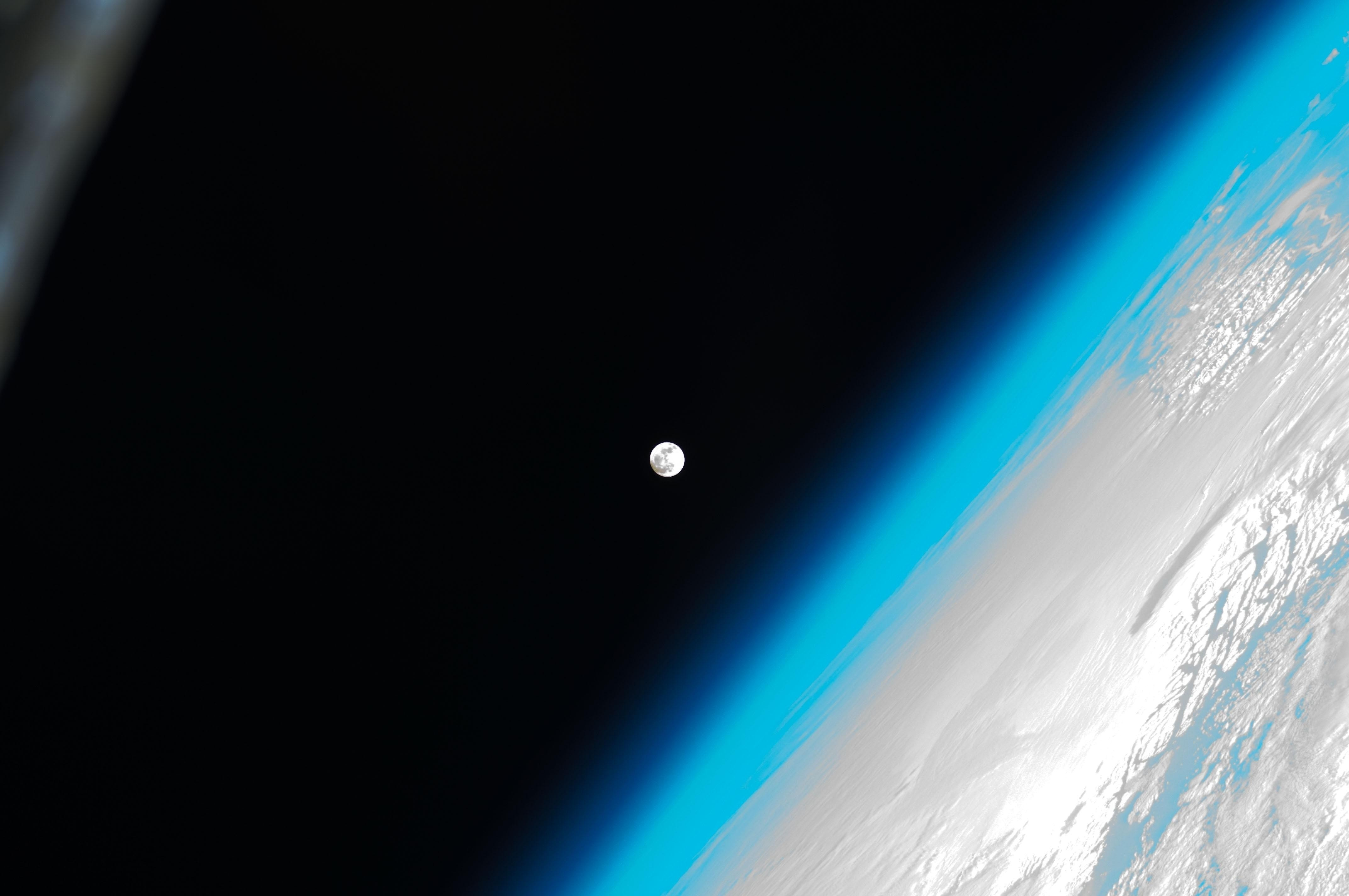 General 4288x2848 space universe Earth Moon planet space station orbits