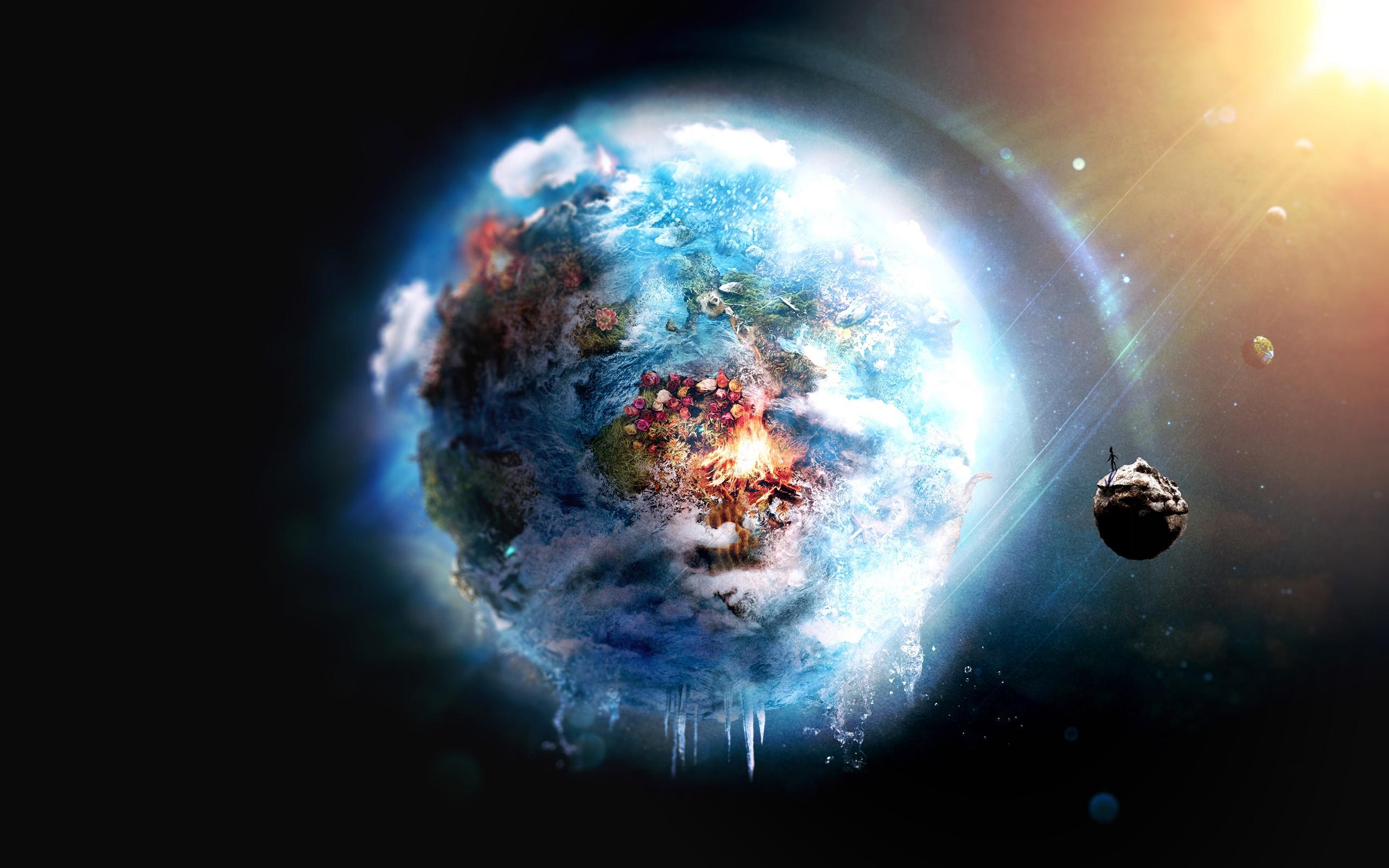 General 2560x1600 digital art space planet Earth space art