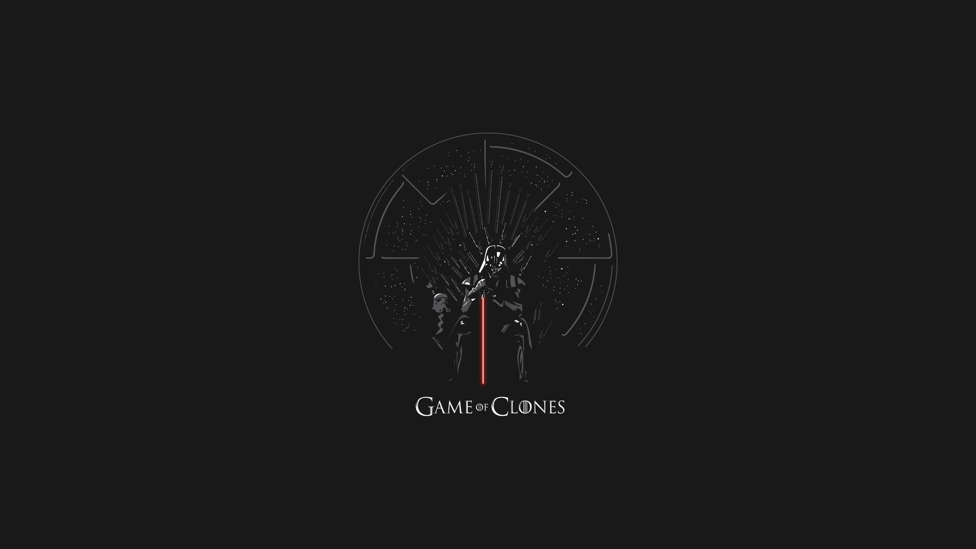 General 1920x1080 Star Wars Game of Thrones crossover Darth Vader minimalism Iron Throne mix up