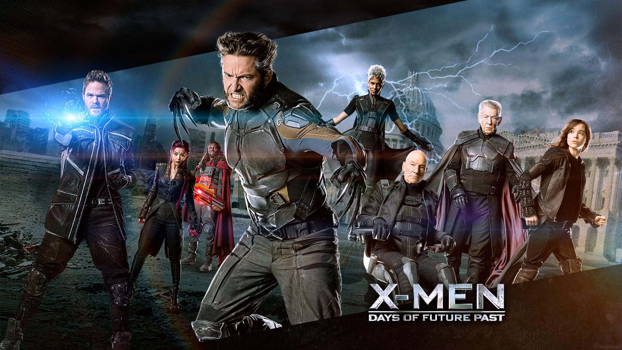 People 2560x1440 X-Men X-Men: Days of Future Past Wolverine Magneto Charles Xavier Beast (character) Ian McKellen science fiction movies Mystique Marvel Comics Patrick Stewart Storm (character) Hugh Jackman Kitty Pryde
