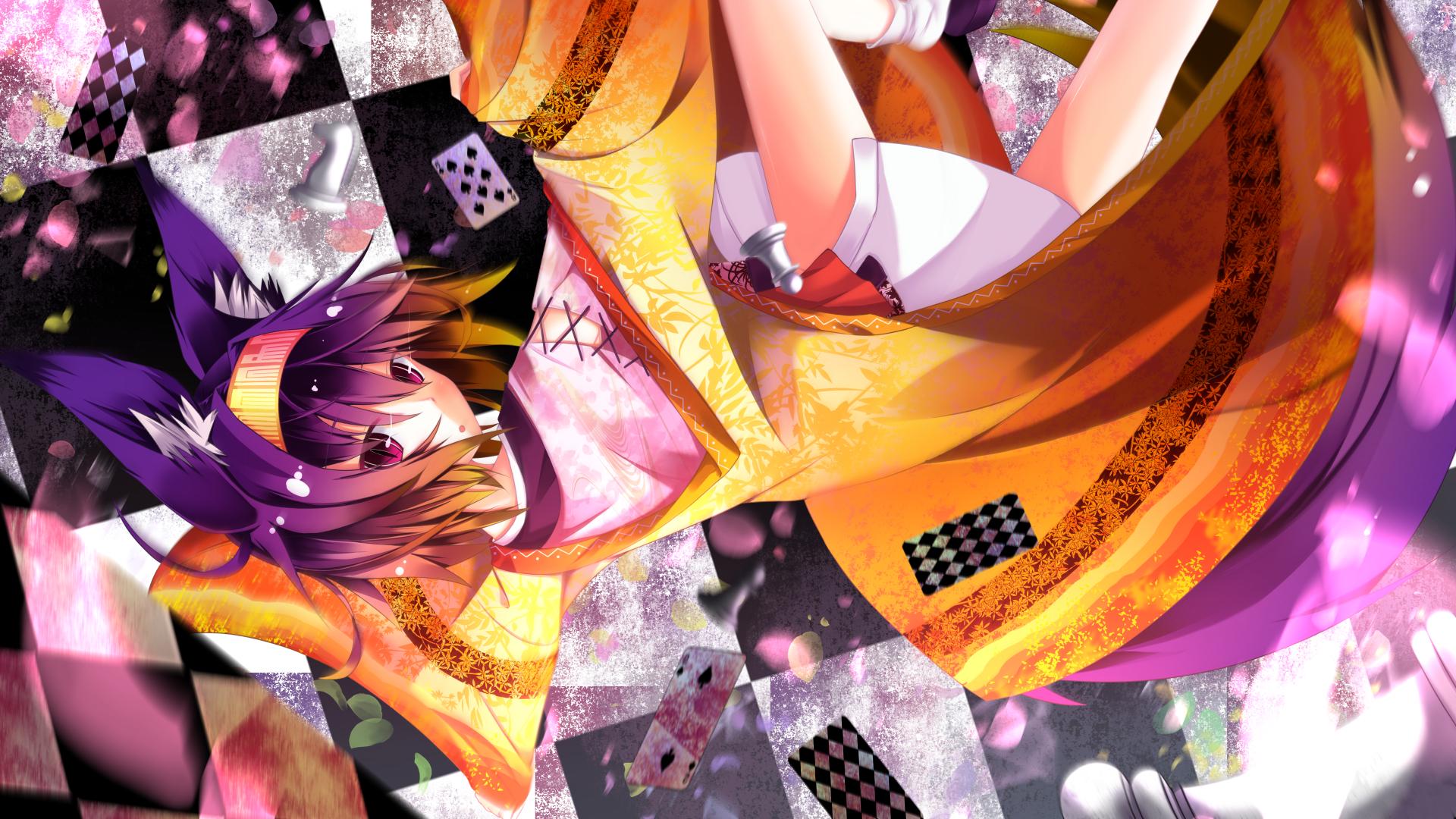 Anime 1920x1080 Hatsuse Izuna No Game No Life purple hair animal ears purple eyes anime girls inumimi anime manga