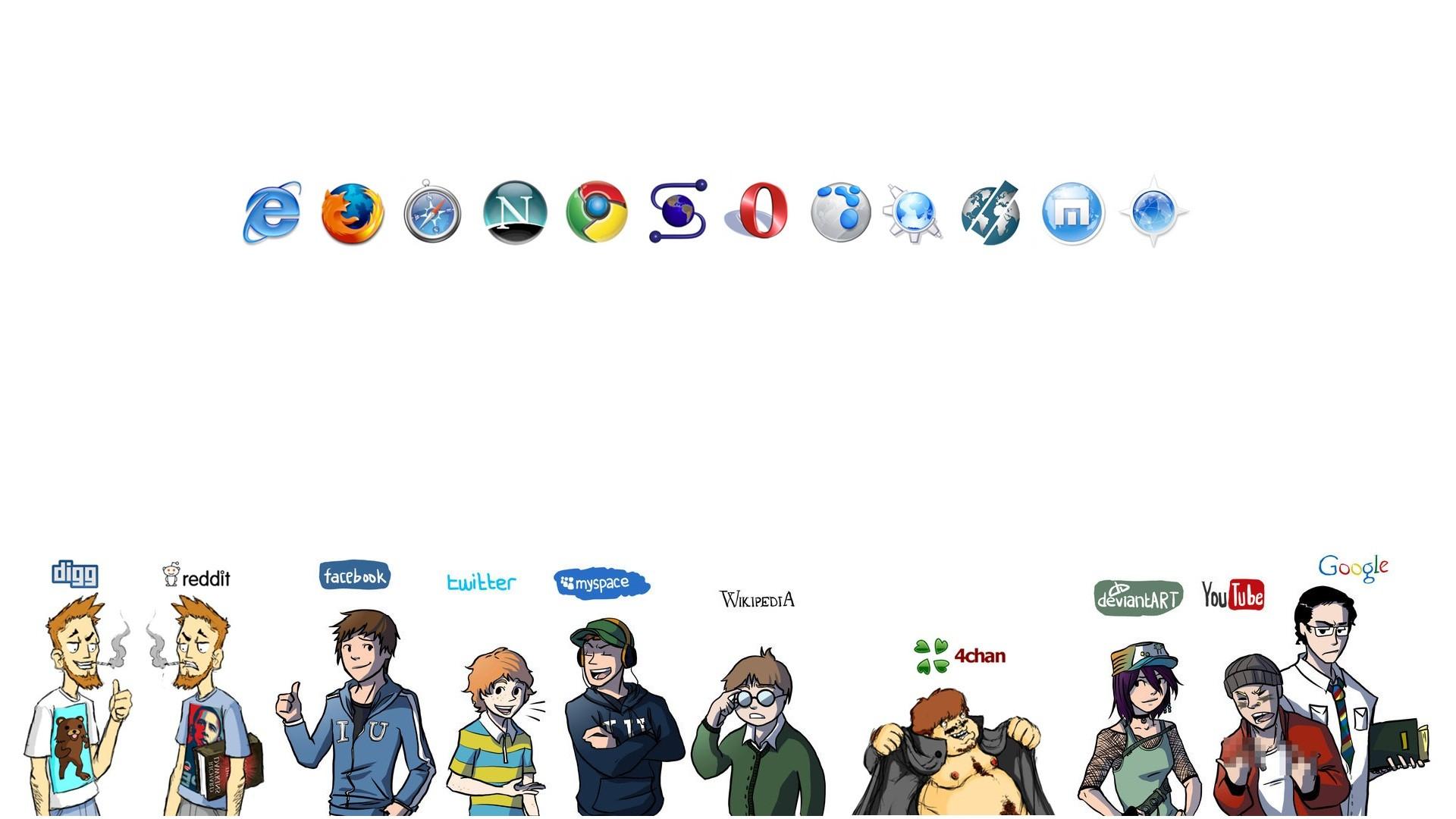 General 1920x1080 reddit Facebook Twitter MySpace 4chan DeviantArt YouTube Google Internet Explorer Mozilla Firefox Google Chrome Opera browser