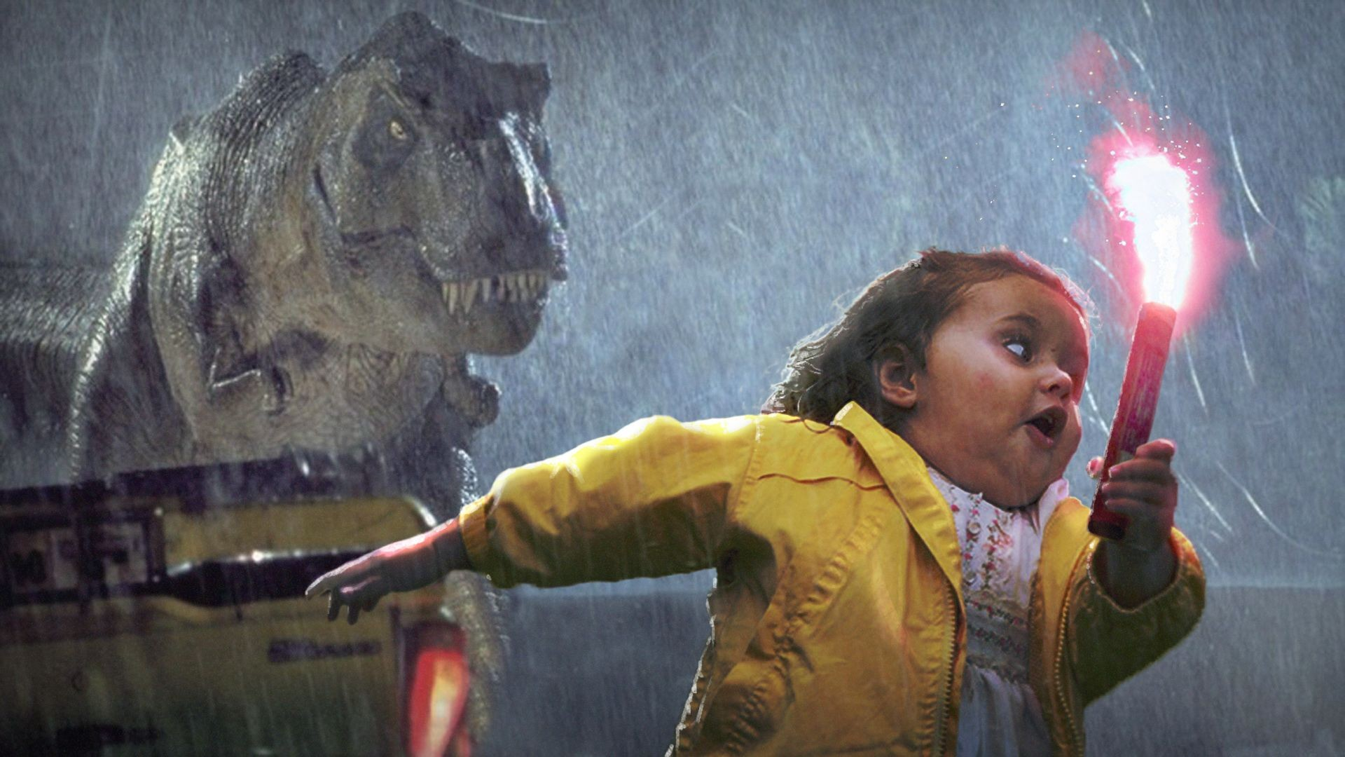 General 1920x1080 humor memes dark humor Jurassic Park Tyrannosaurus rex