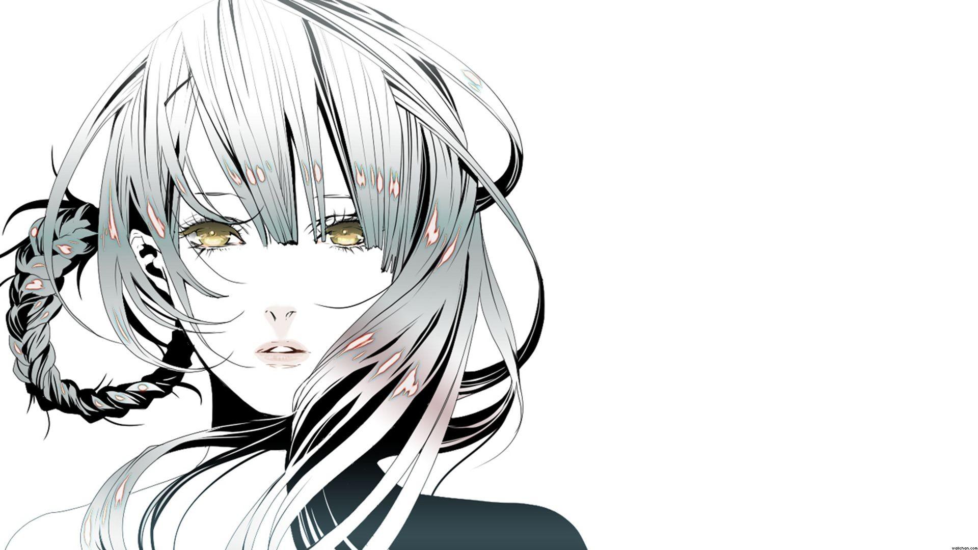 Anime 1920x1080 anime girls white simple background Kaine (NieR) NieR
