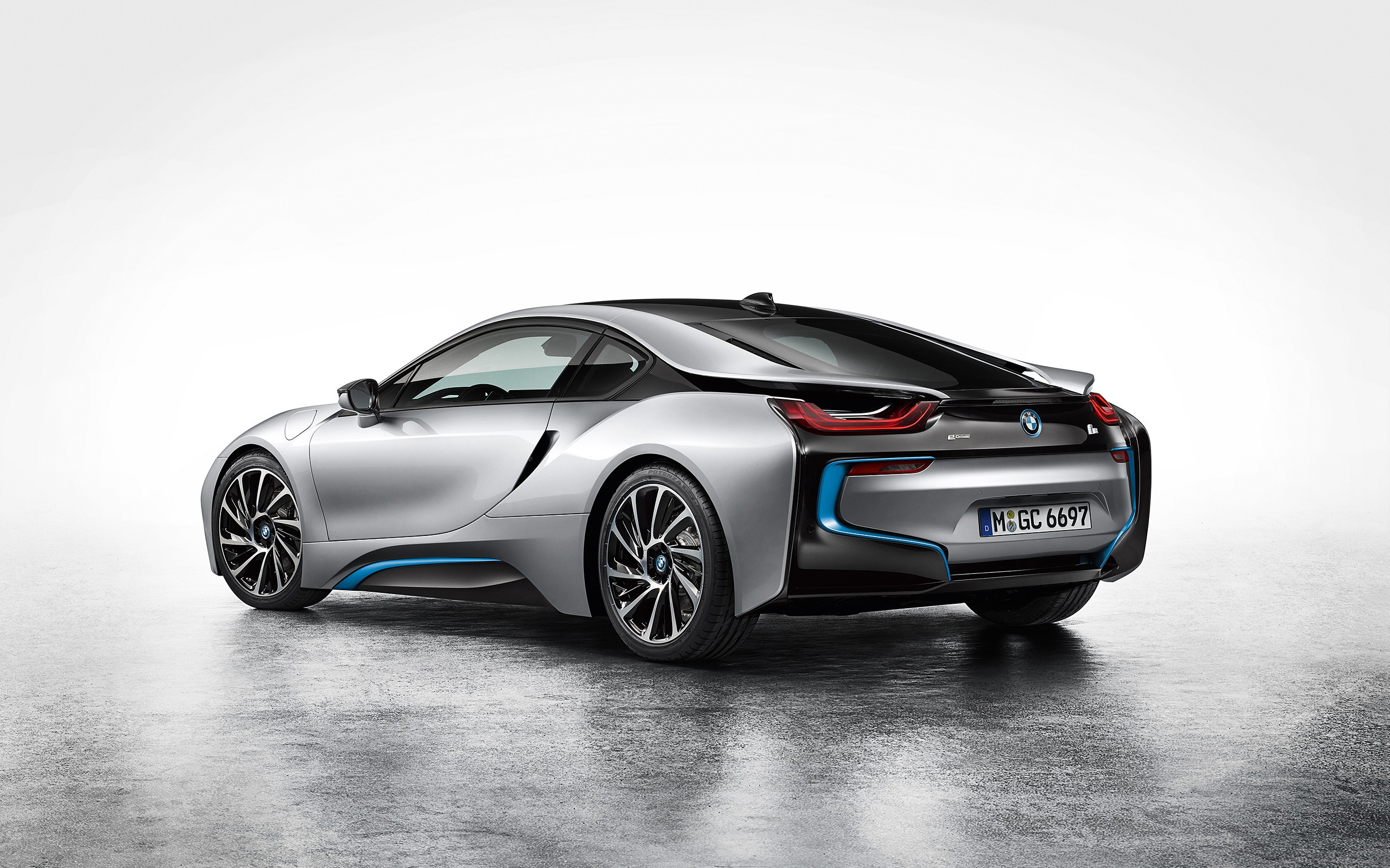 General 2560x1600 car silver cars vehicle simple background BMW BMW i8