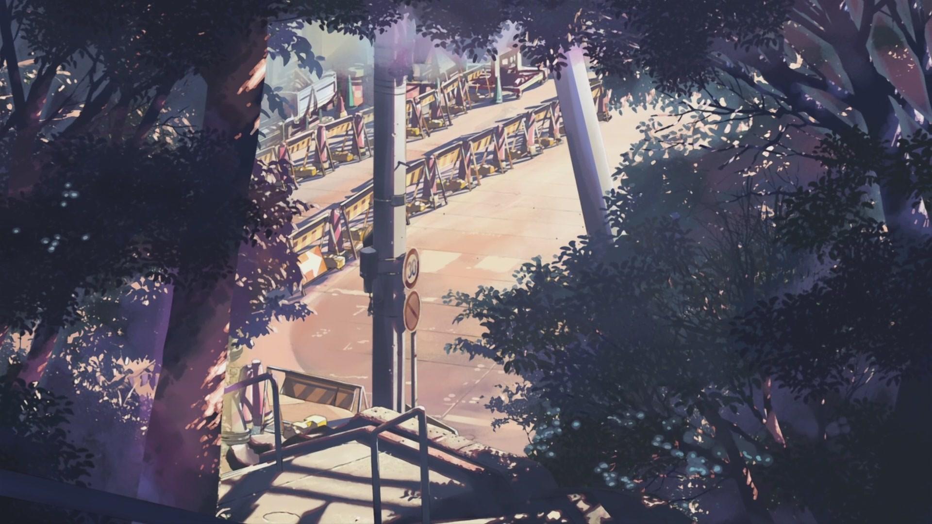Anime 1920x1080 trees 5 Centimeters Per Second artwork Makoto Shinkai  anime