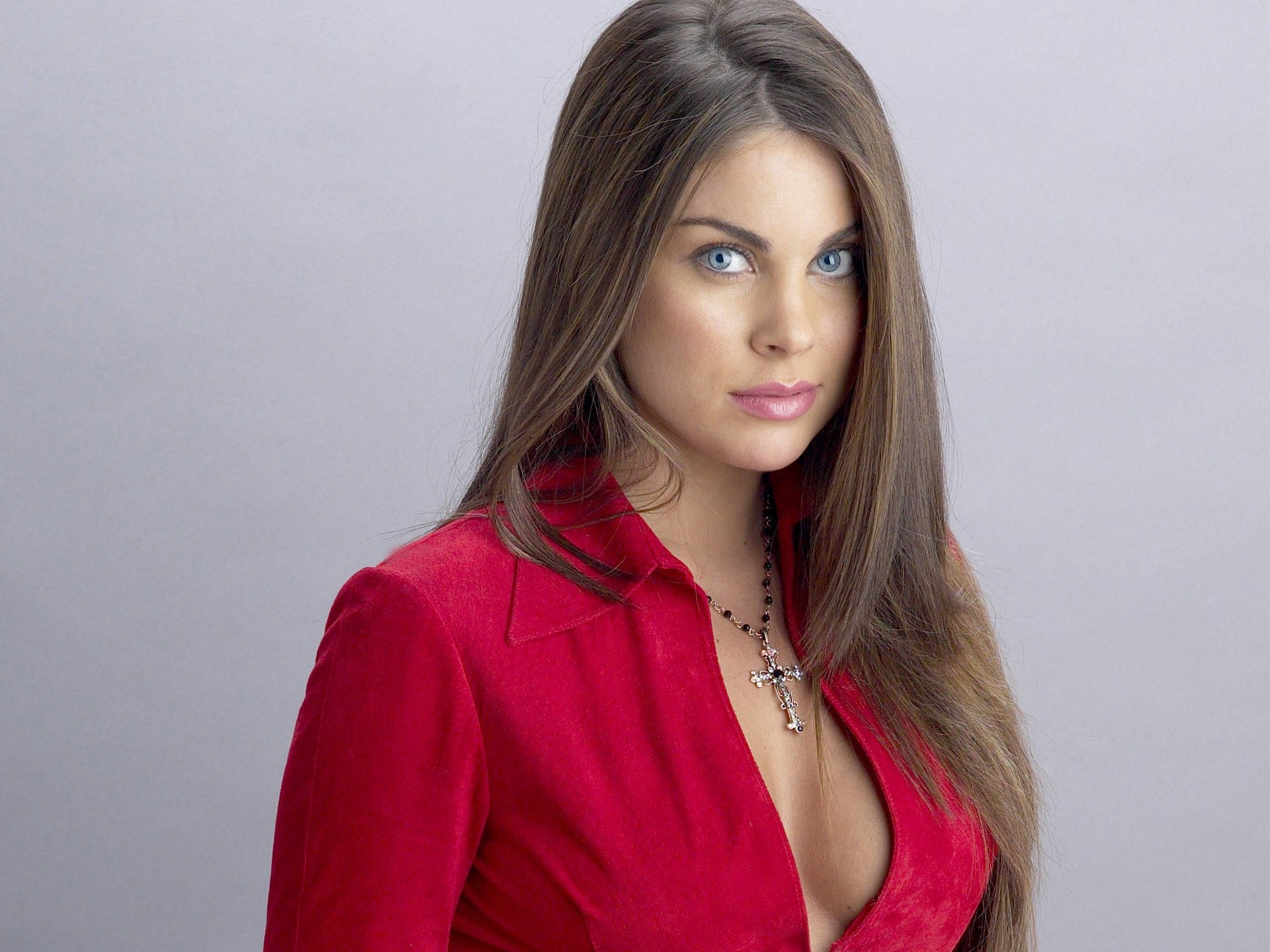 People 1920x1440 women Nadia Bjorlin brunette blue eyes actress singer