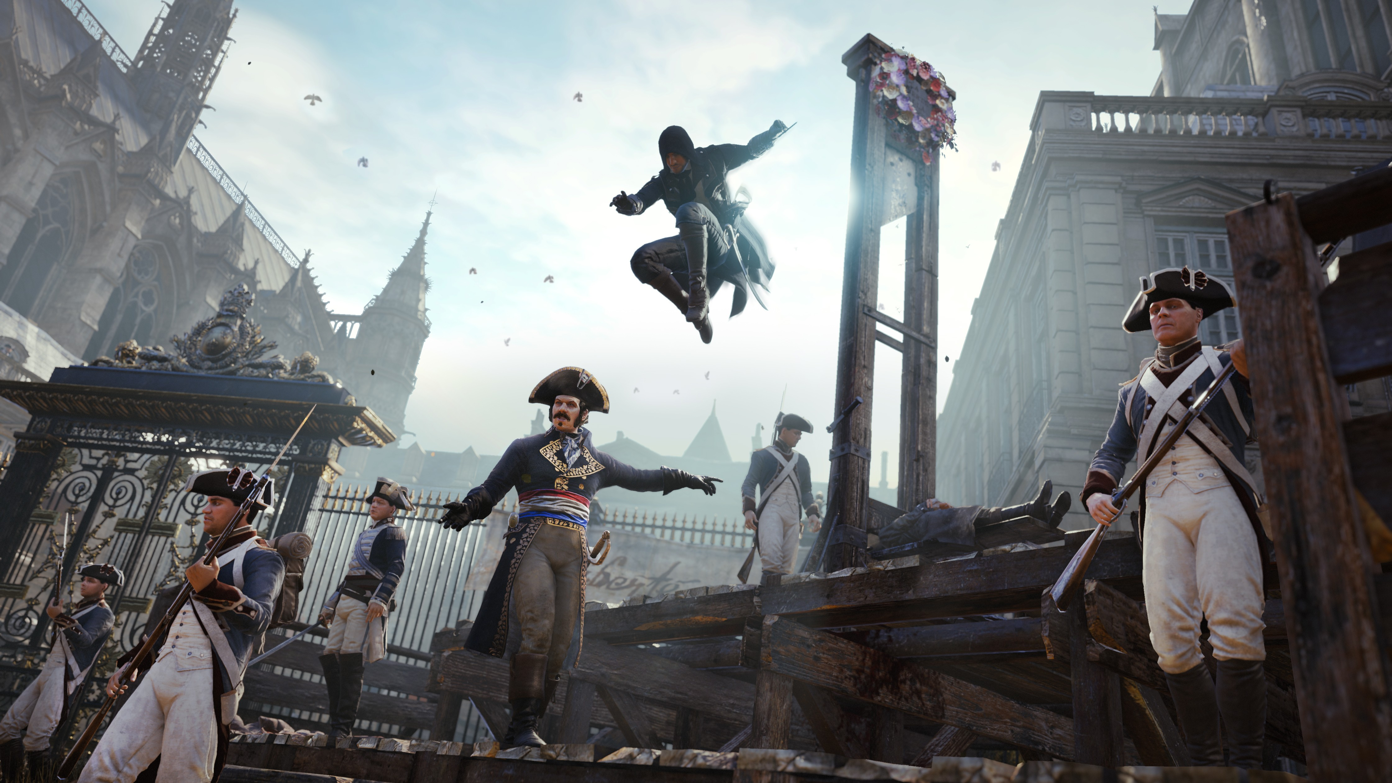 General 4480x2520 Assassin's Creed Assassin's Creed:  Unity video games