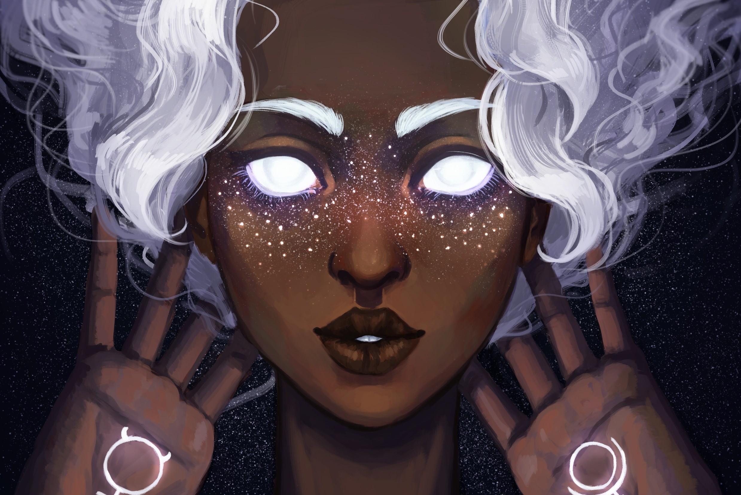 General 2478x1656 fantasy art artwork glowing eyes face fantasy girl