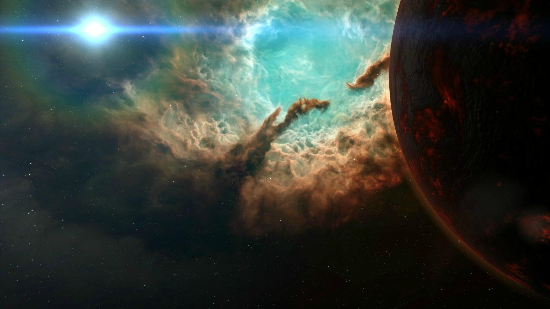 General 1920x1080 space nebula planet