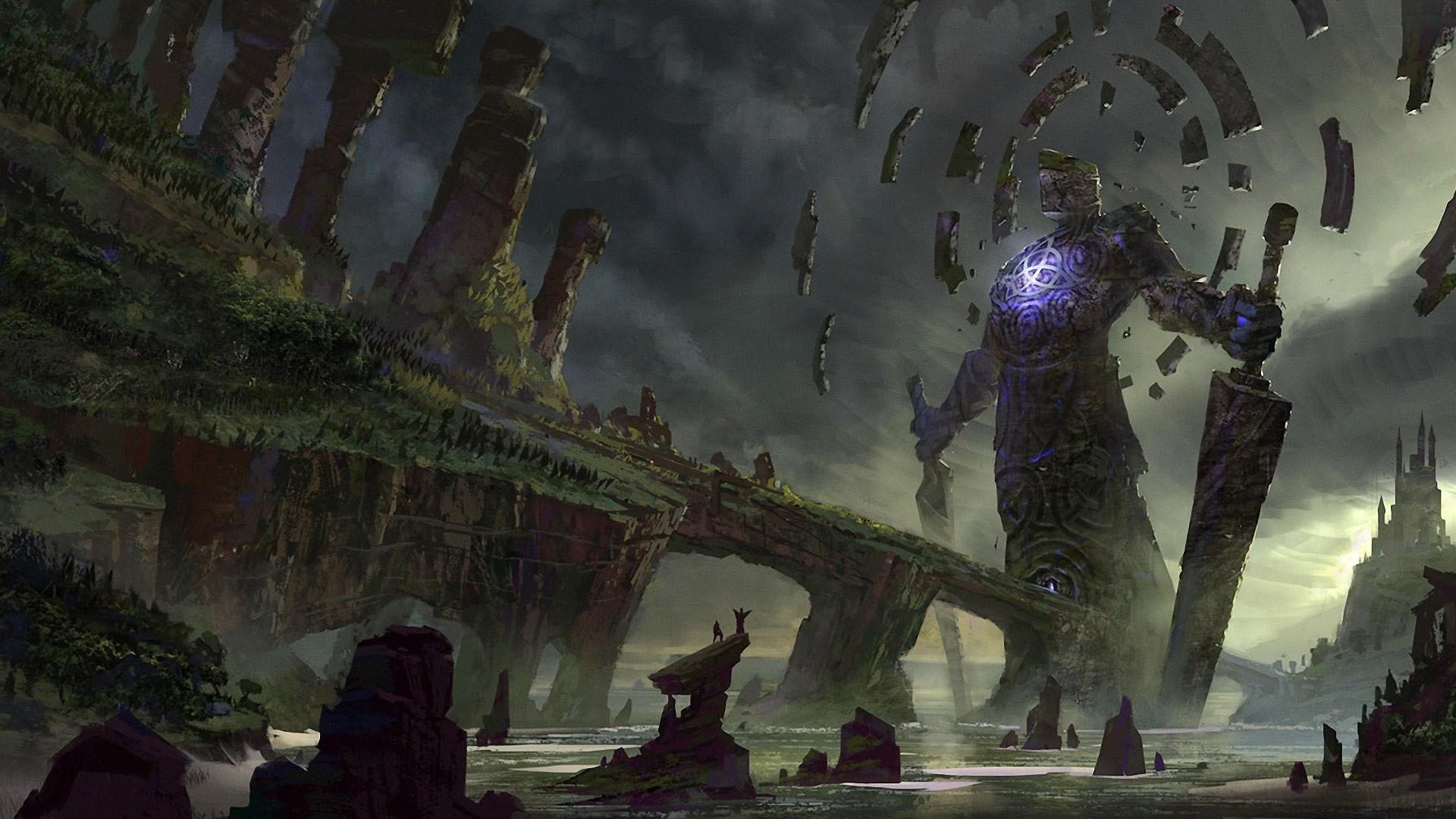 General 1920x1080 colossus fantasy art landscape artwork digital art video games Shadow of the Colossus