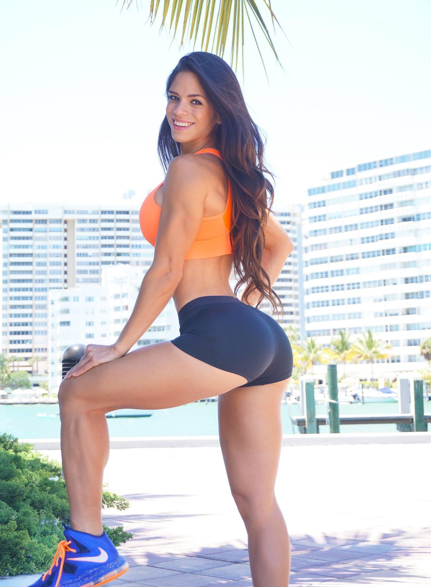 People 1502x2048 Nike sports bra Michelle Lewin booty shorts yoga pants short shorts women outdoors ass smiling sport bras long hair