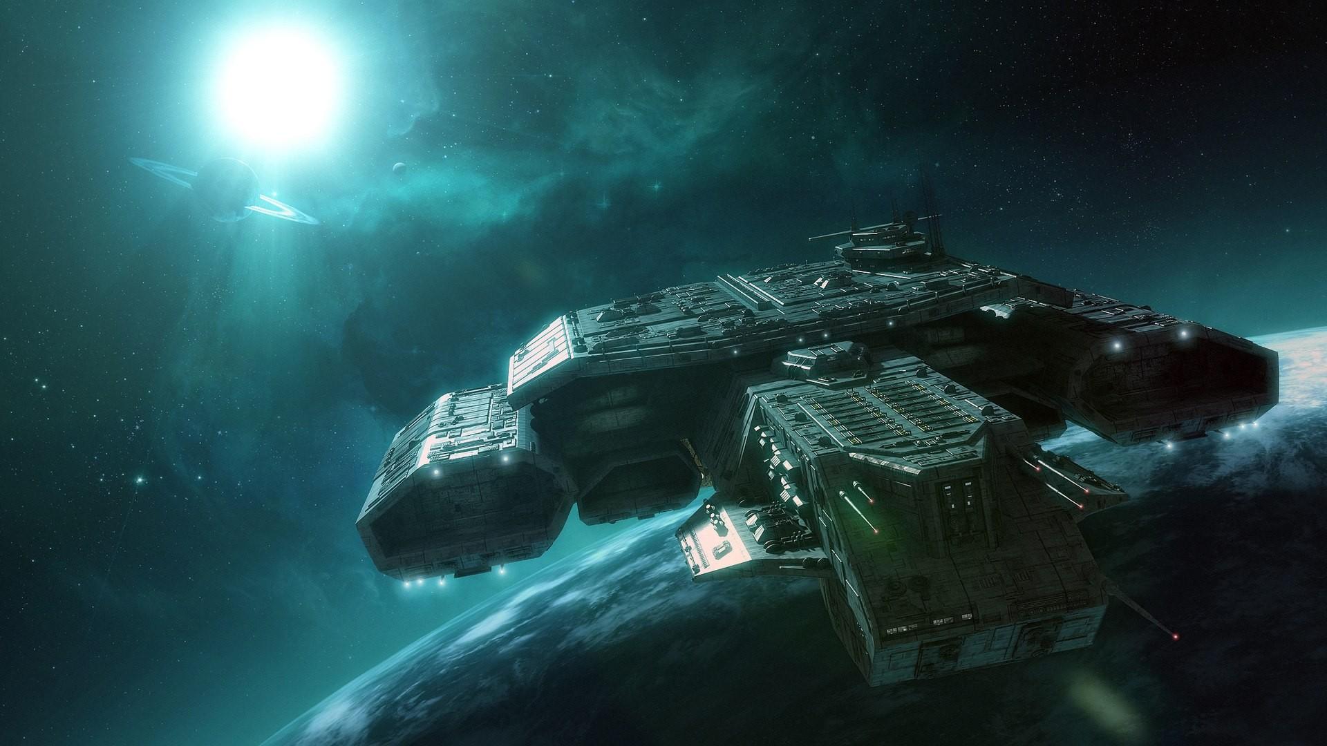 General 1920x1080 spaceship Stargate Daedalus-class space Apollo science fiction