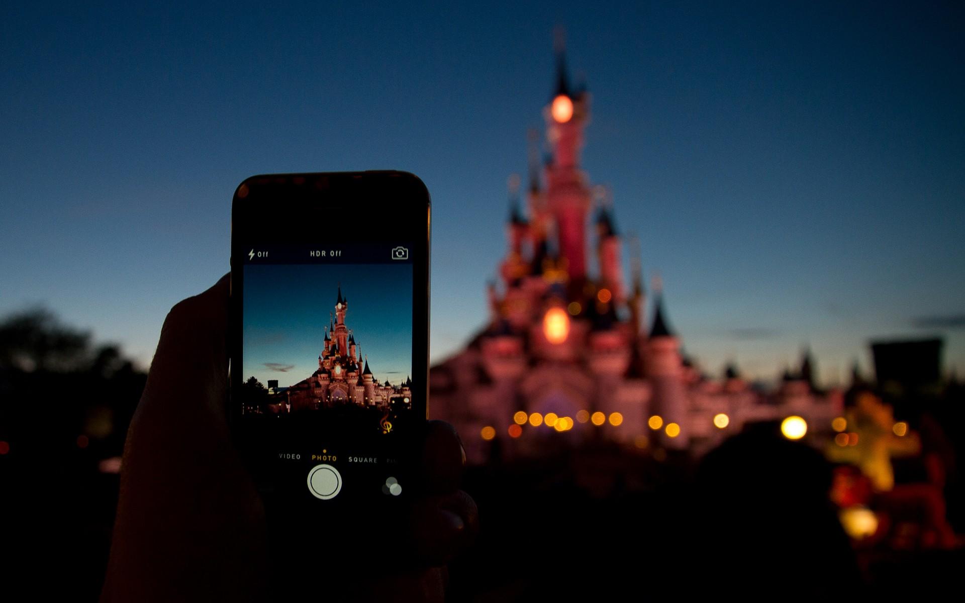 General 1920x1200 Disney castle phone cellphone bokeh