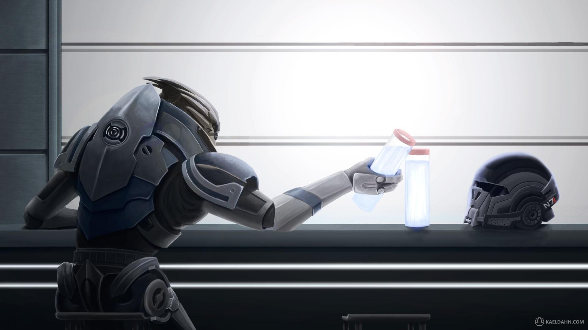 General 1920x1080 Mass Effect Garrus Vakarian video games helmet PC gaming video game art science fiction