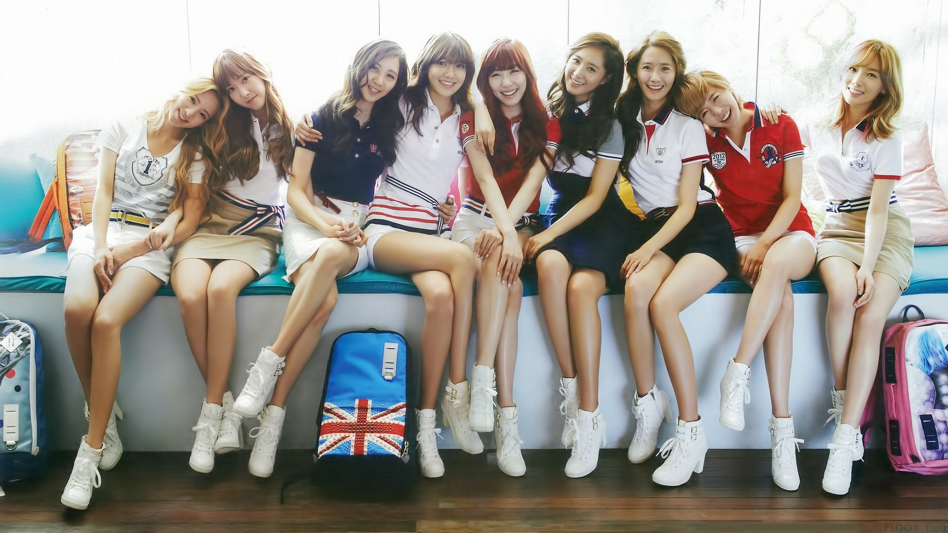 People 1920x1080 SNSD Girls' Generation Kim Taeyeon Lee Soonkyu Sunny Yoona Im Yoona Kim Hyoyeon Seohyun Tiffany Hwang Kwon Yuri Jessica Jung Choi Sooyoung women group of women Asian sitting blonde brunette redhead smiling looking at viewer