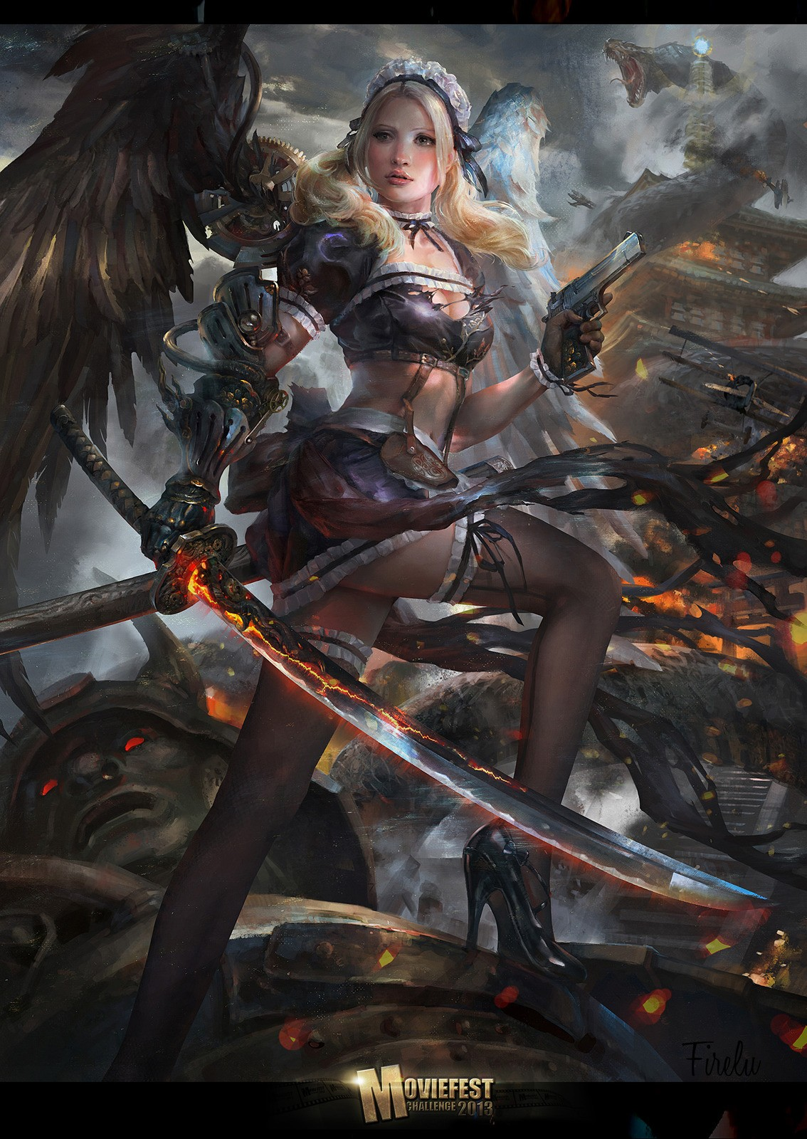 General 1134x1600 Sucker Punch fantasy girl fantasy art
