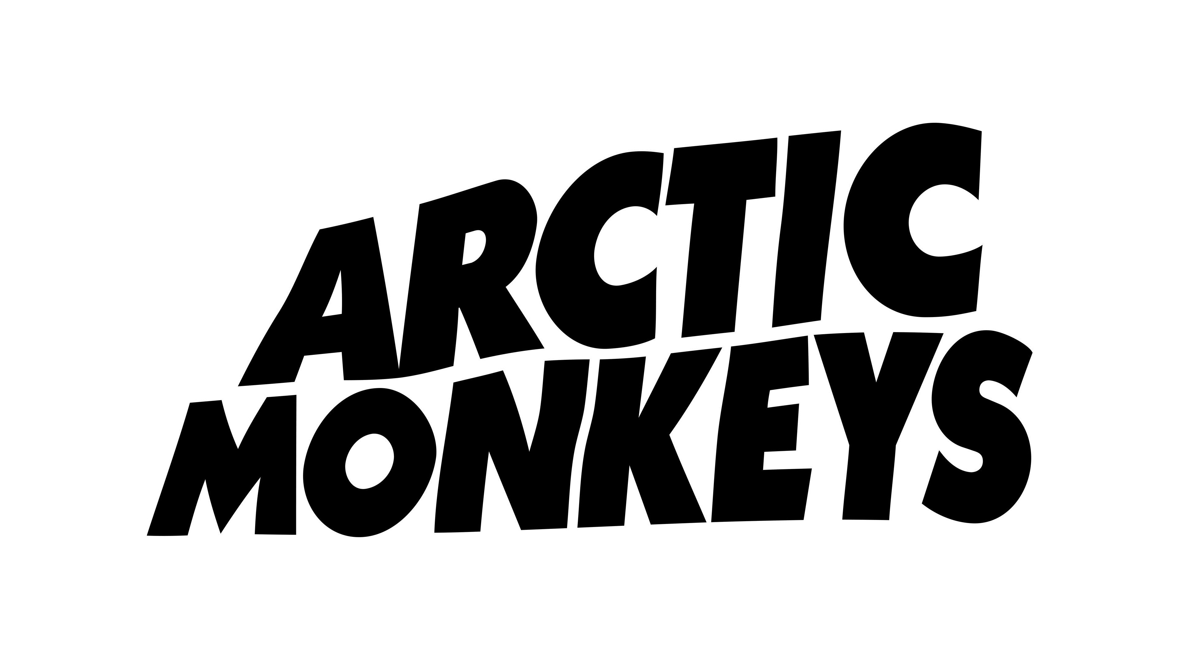 General 3840x2160 Arctic Monkeys logo monochrome typography