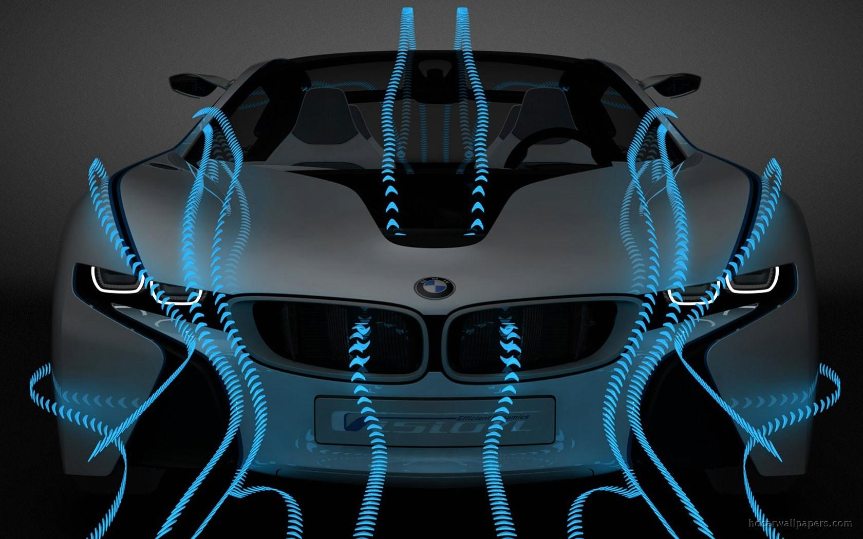 General 1680x1050 BMW i8 BMW vehicle digital art BMW Vision Hybrid silver cars concept cars